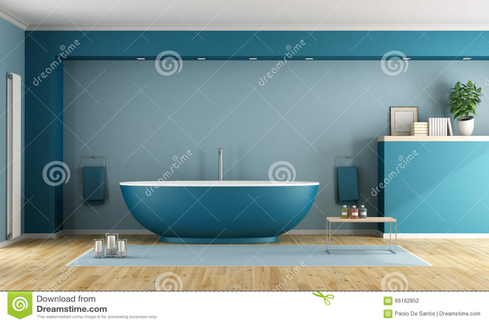 Foto bagno moderno blu e verde