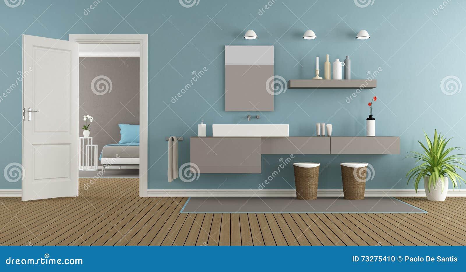 Bagno moderno con il lavandino illustrazione di stock - Lavandino bagno moderno ...