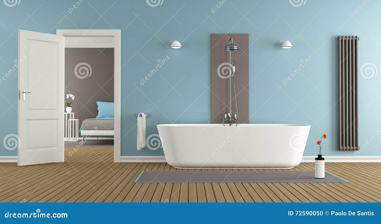 Bagni Con Doccia E Vasca Moderni : Bagno moderno con la vasca e la doccia illustrazione di stock