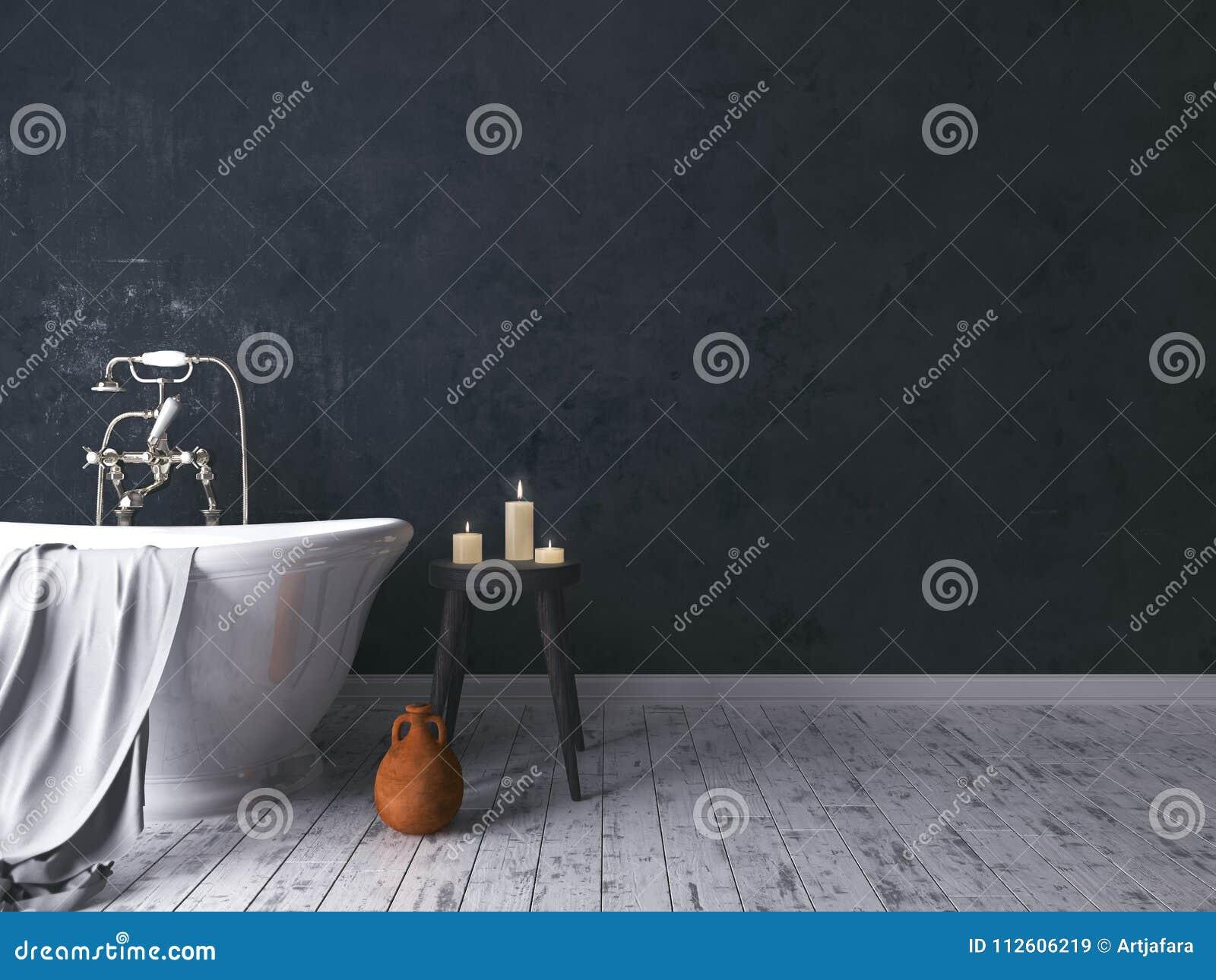 Bagno Legno Rustico : Bagno rustico con il vecchio panchetto di legno immagine stock