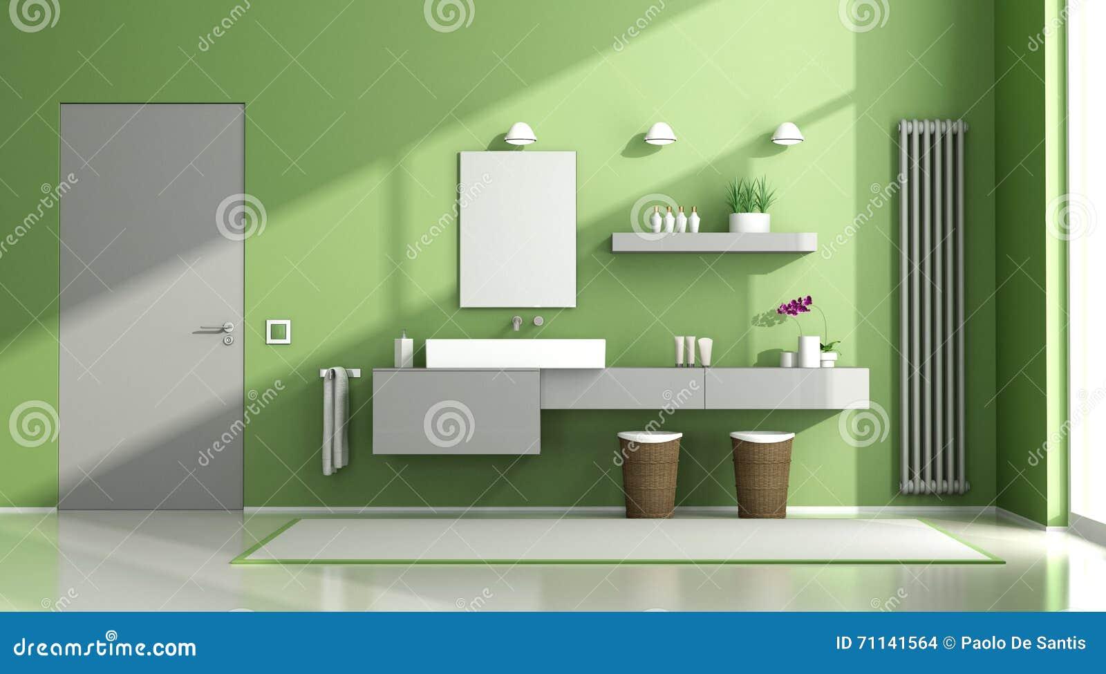 Bagno Verde E Grigio Illustrazione di Stock - Immagine: 71141564