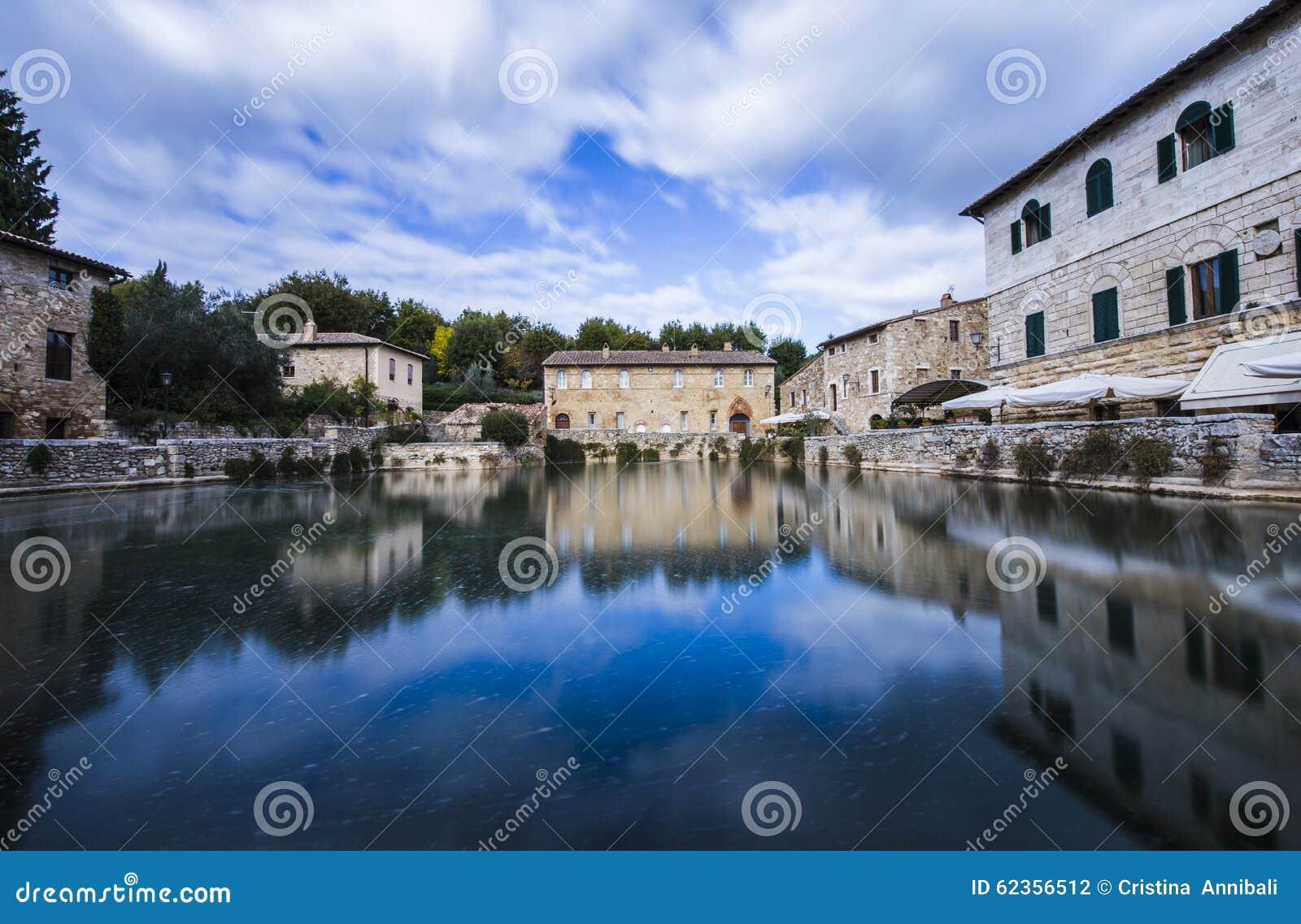 Bagno Vignoni,Italy Stock Photo - Image: 62356512