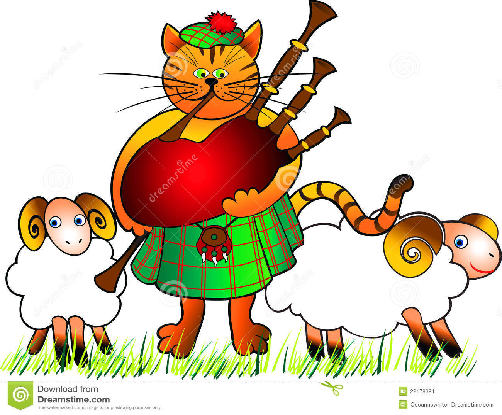 Bagpiper γάτα