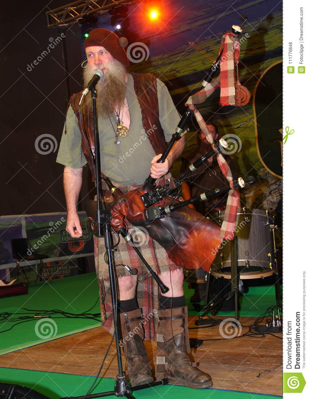 Bagpiper from the Saor Patrol group