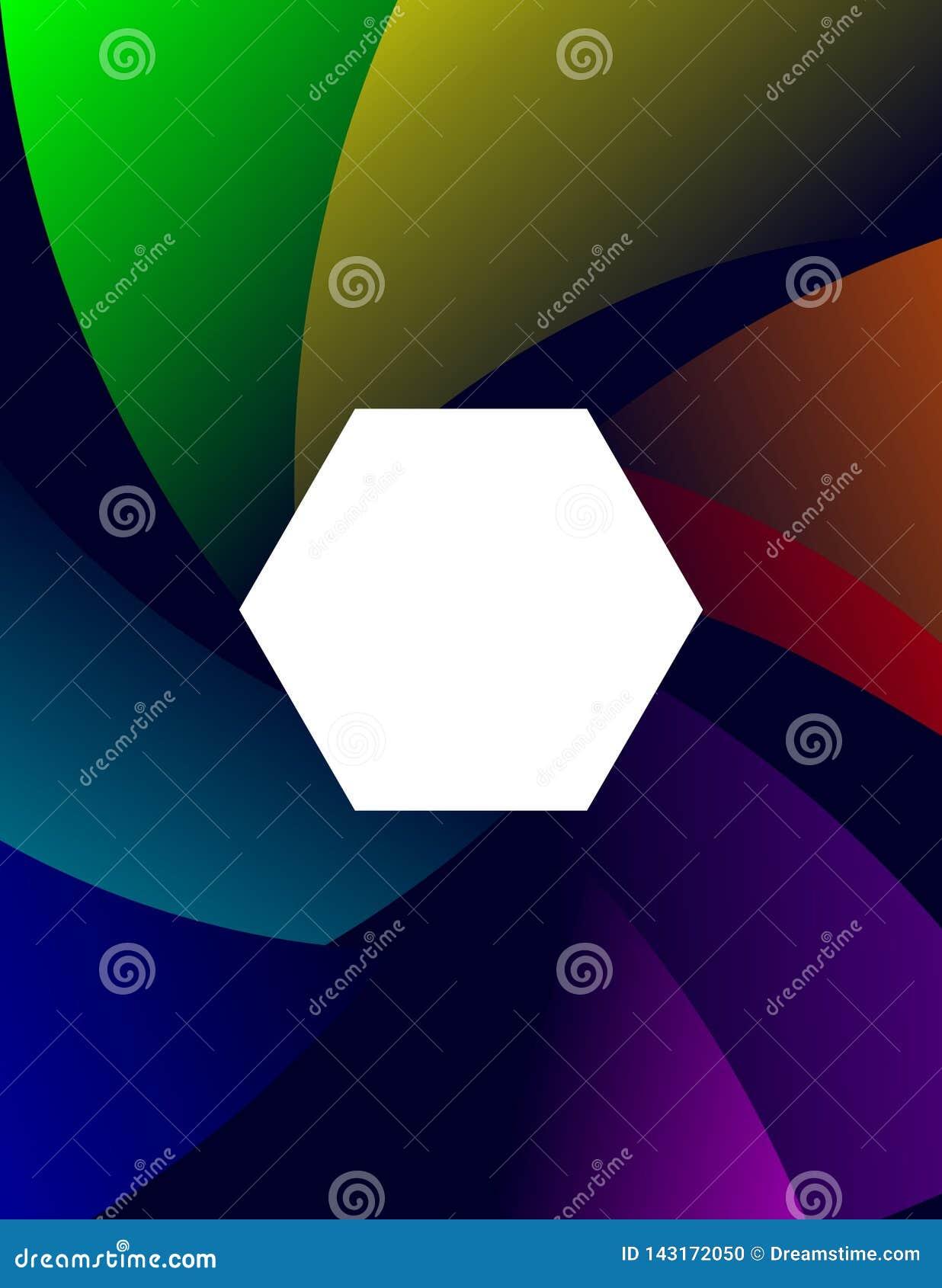 Baground抽象五颜六色的六角形平的设计