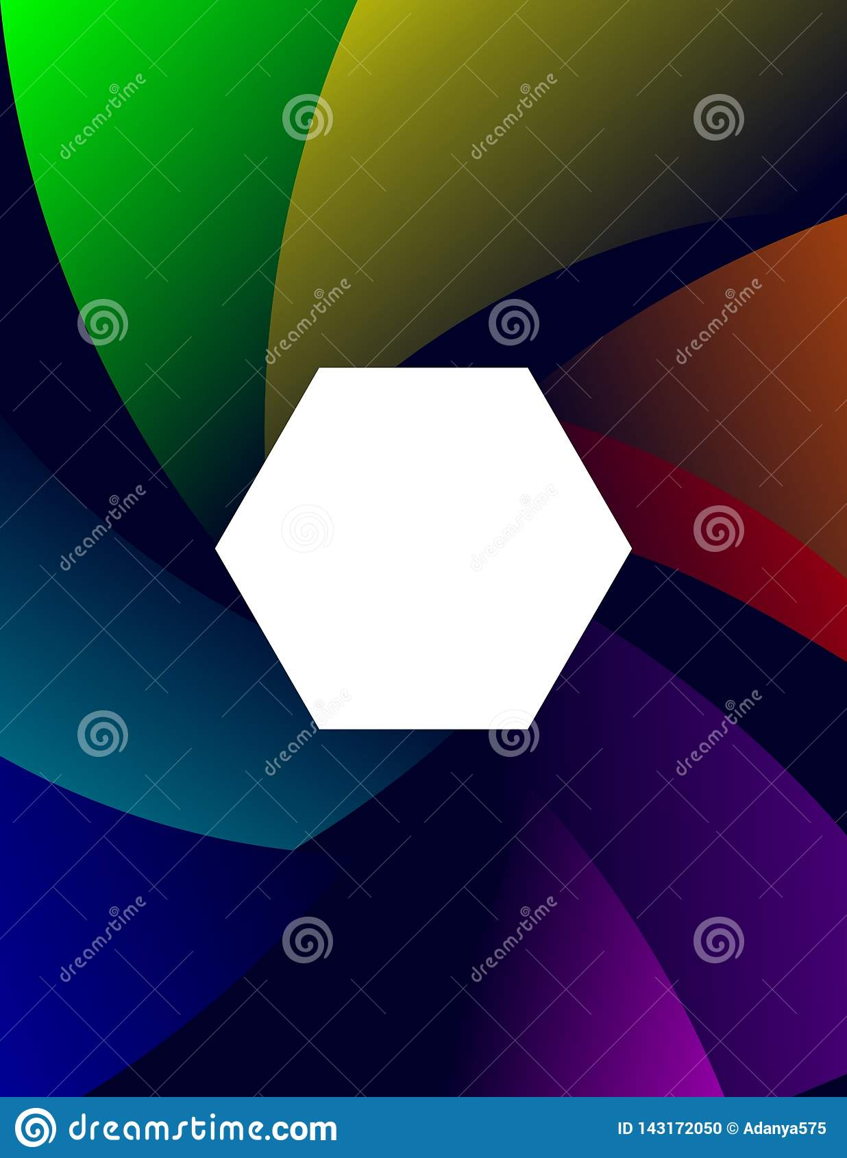 Baground Abstract Colorful Hexagon Flat Design