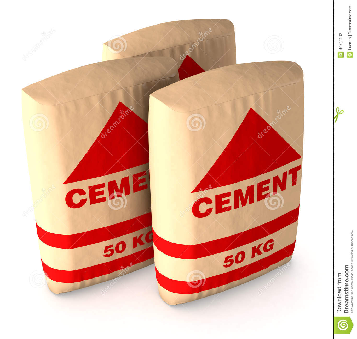 bags of cement stock illustration image of illustration