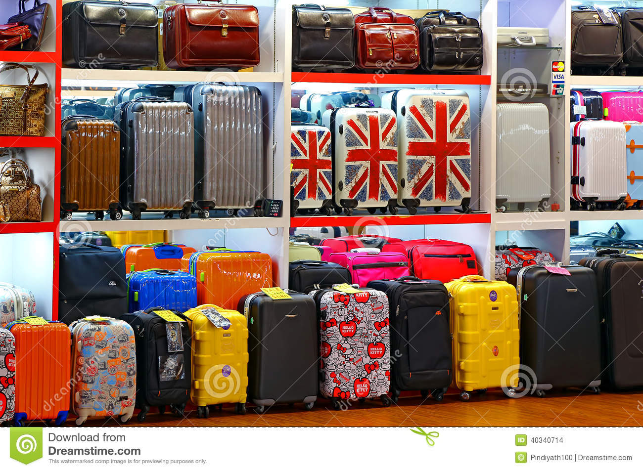 Bags And Luggage Store Editorial Stock Image - Image: 40340714