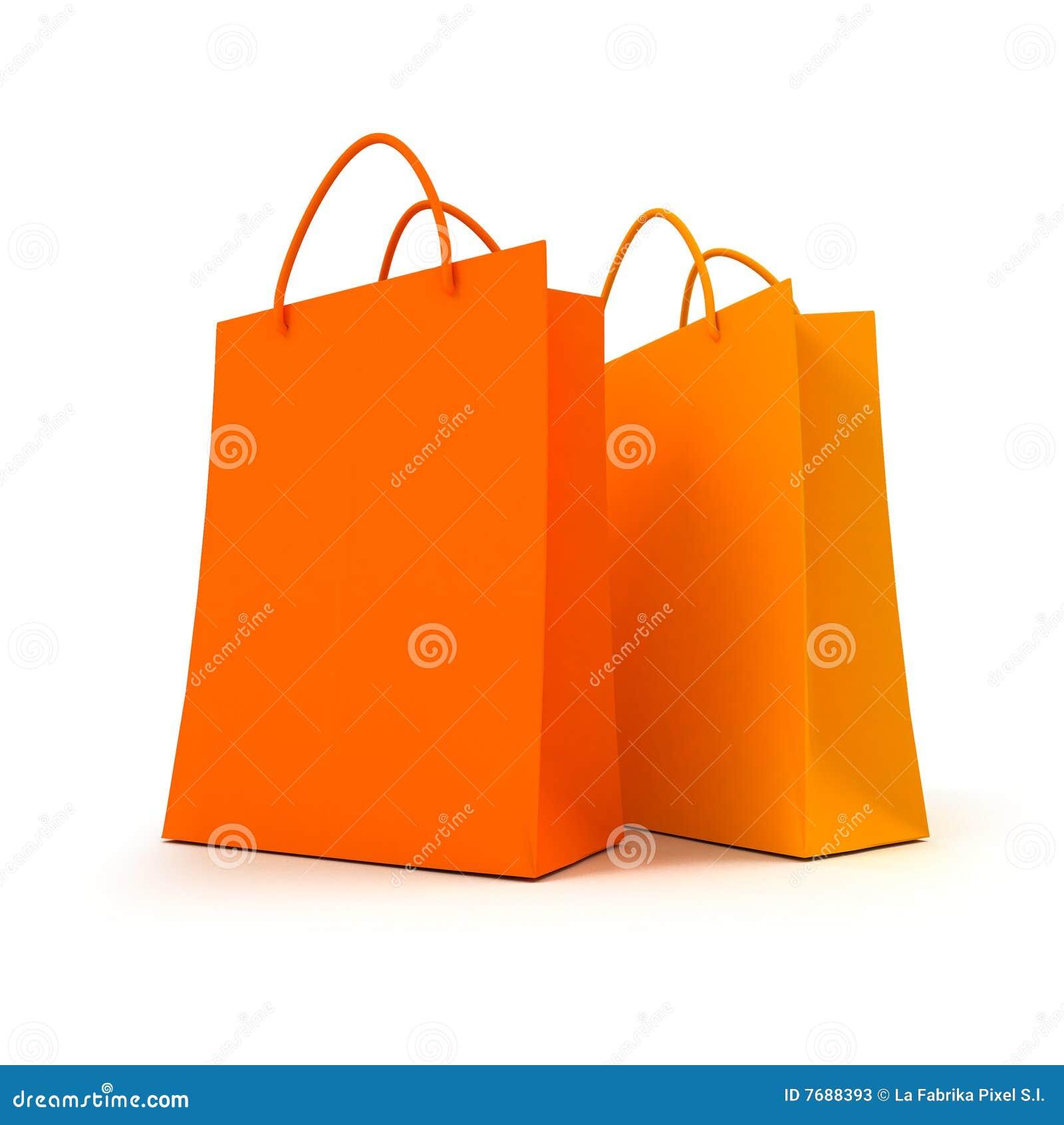 Bags orange parshopping