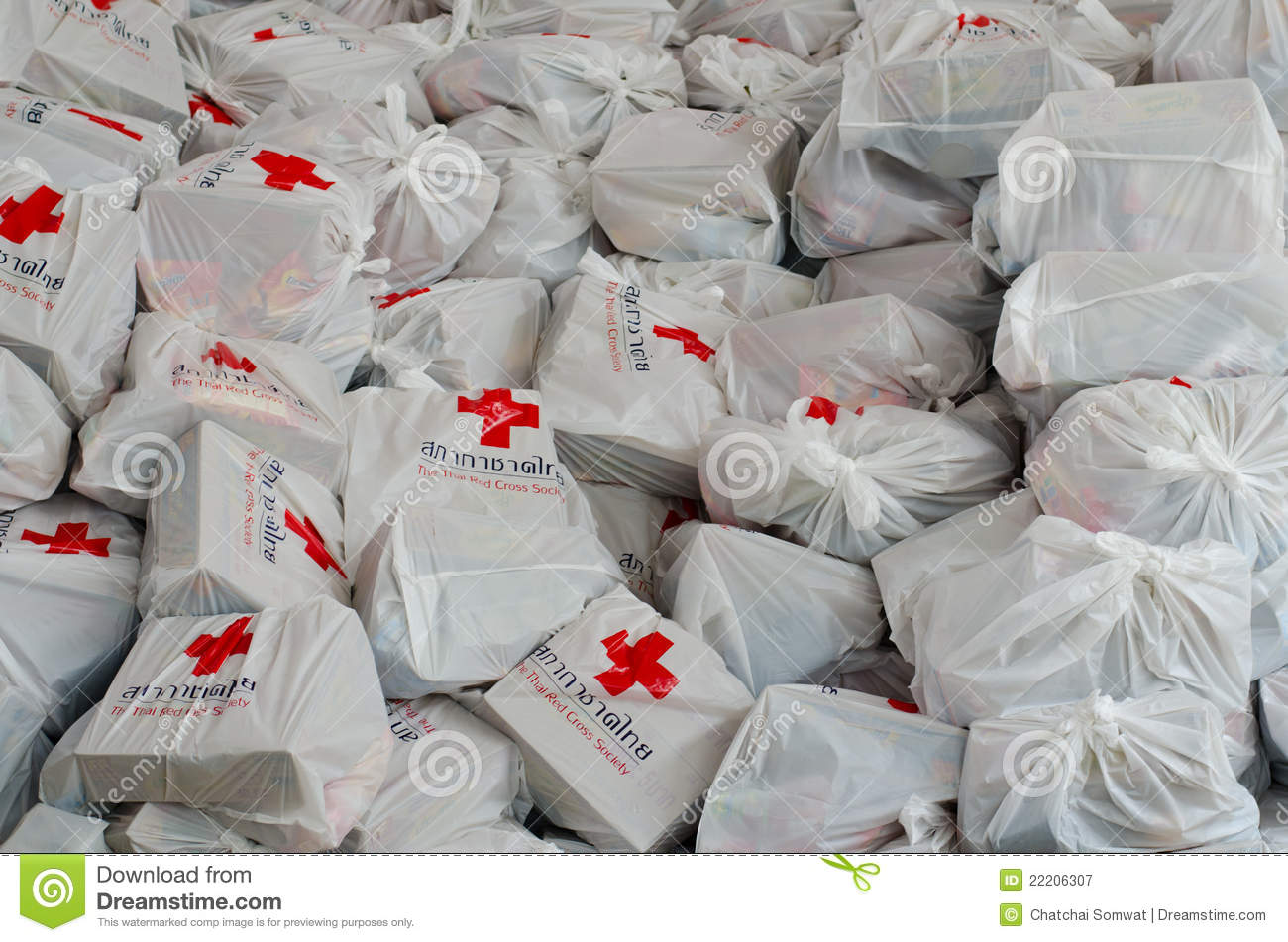 Bags of Red Cross