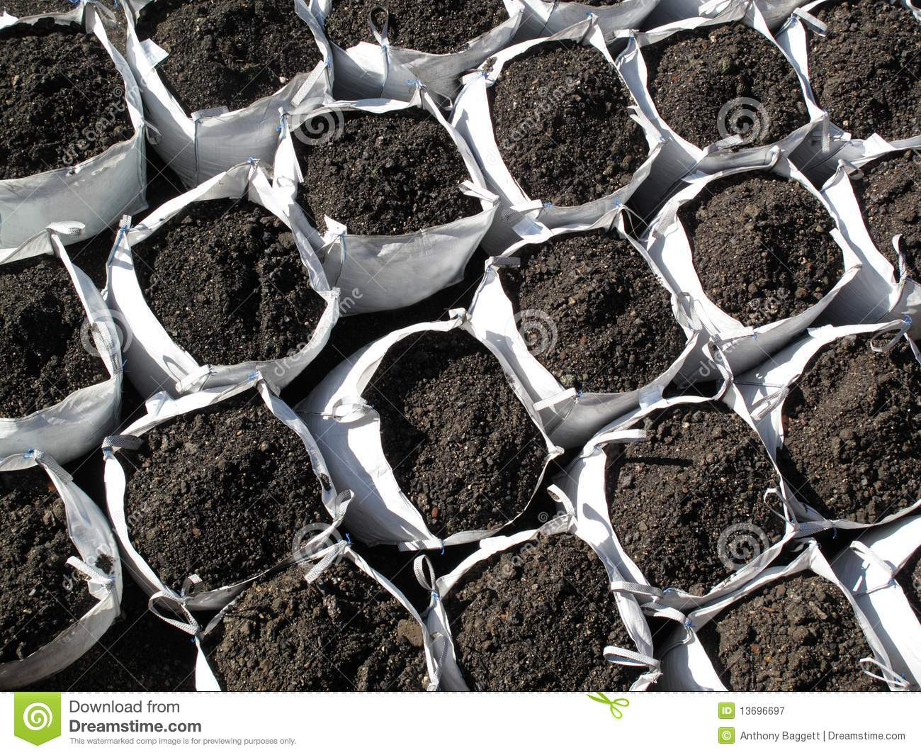 Bags of topsoil royalty free stock photography image for Bags of topsoil