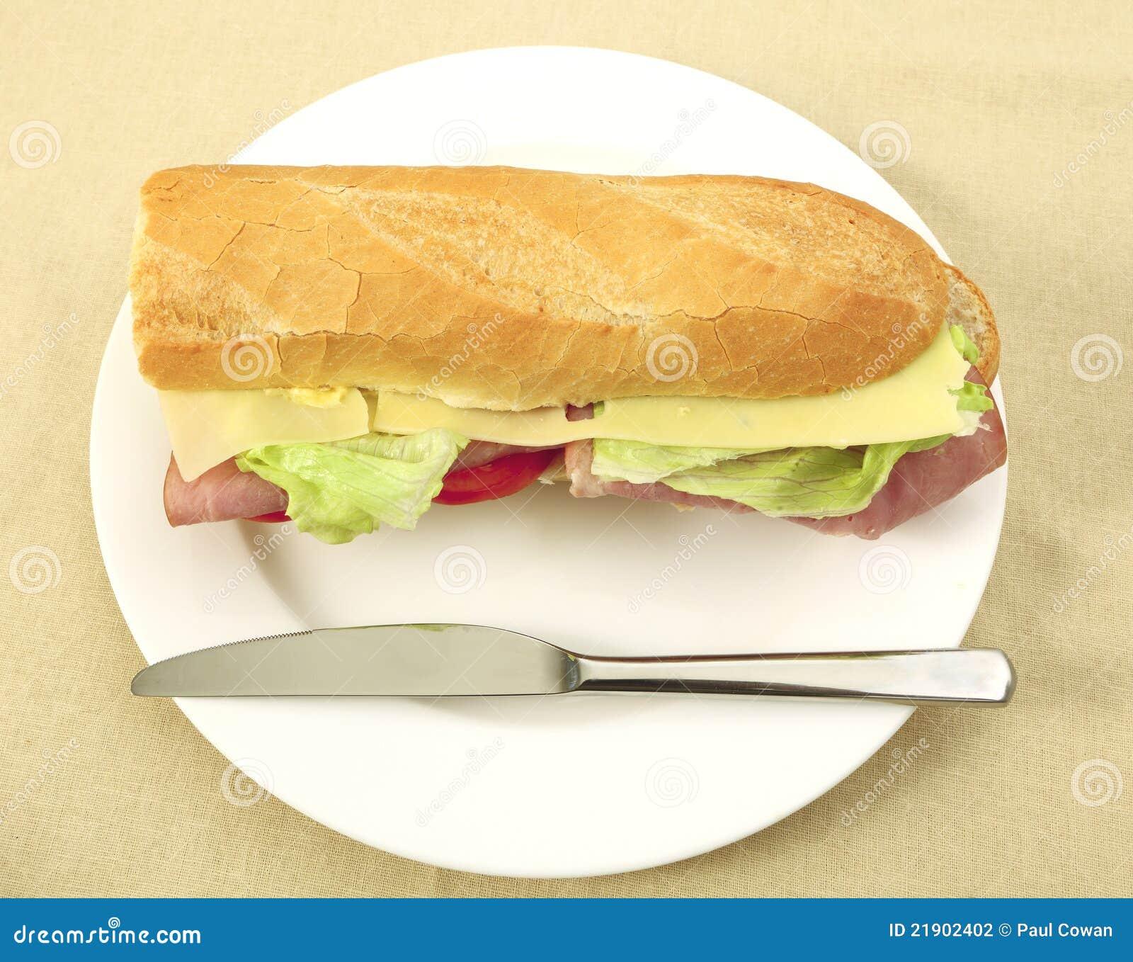 Baguette del jamón y del queso