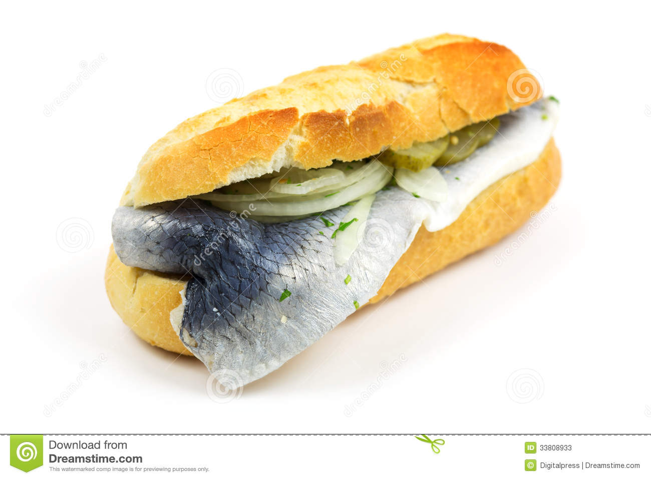 Baguette with fish stock photos image 33808933 for Fast food fish