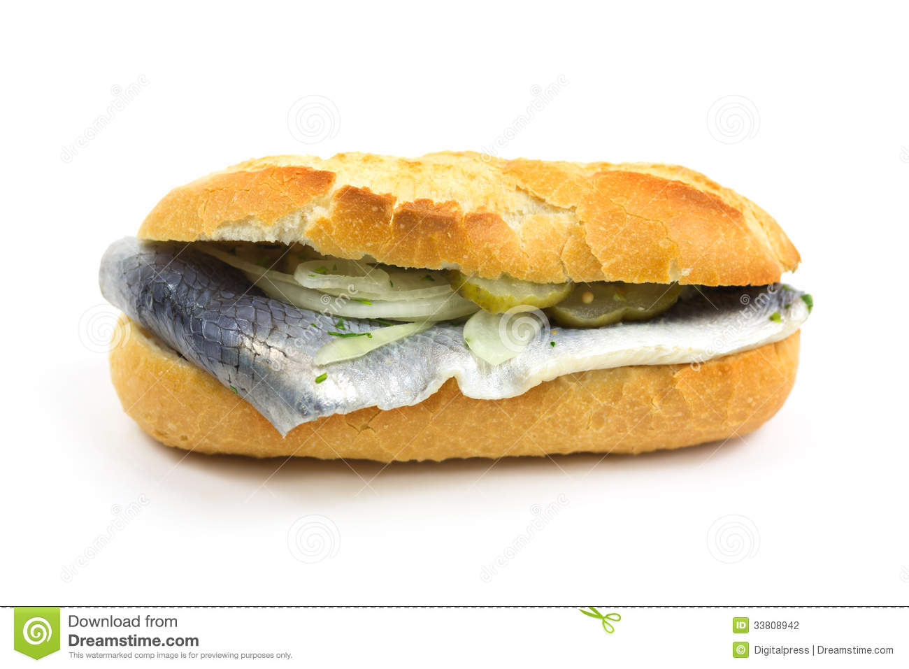 Baguette with fish stock photography image 33808942 for Fast food fish