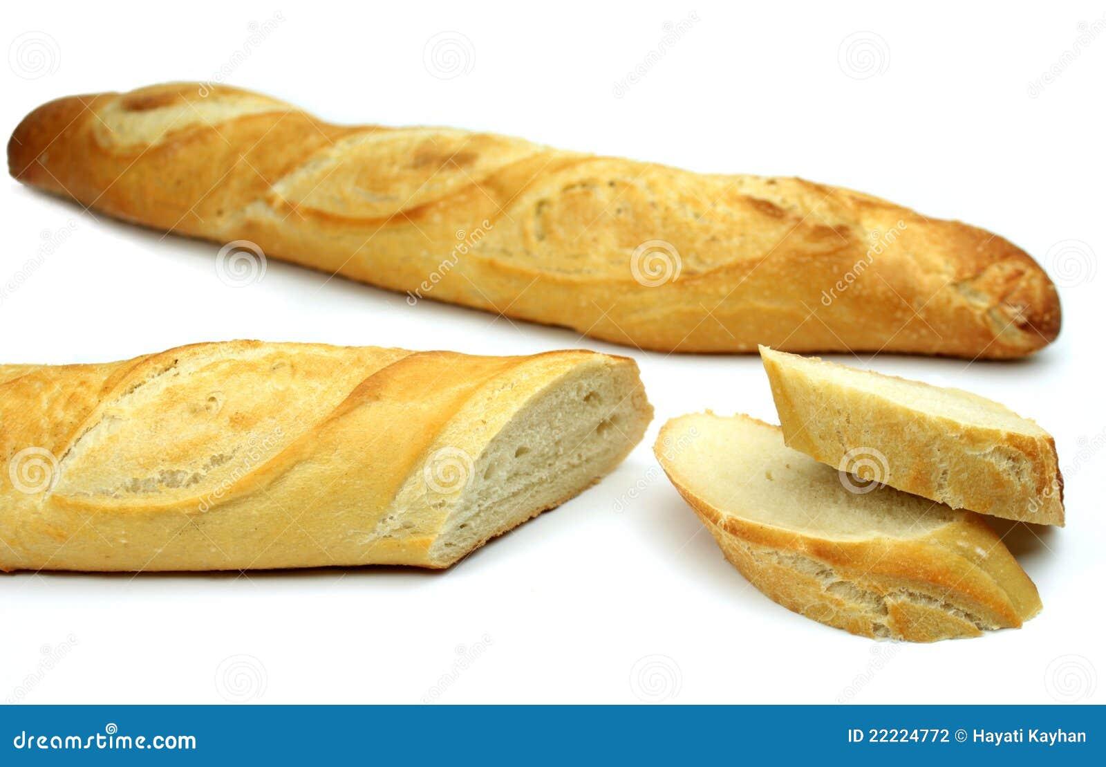 Baguette Sur Le Fond Blanc stock Image
