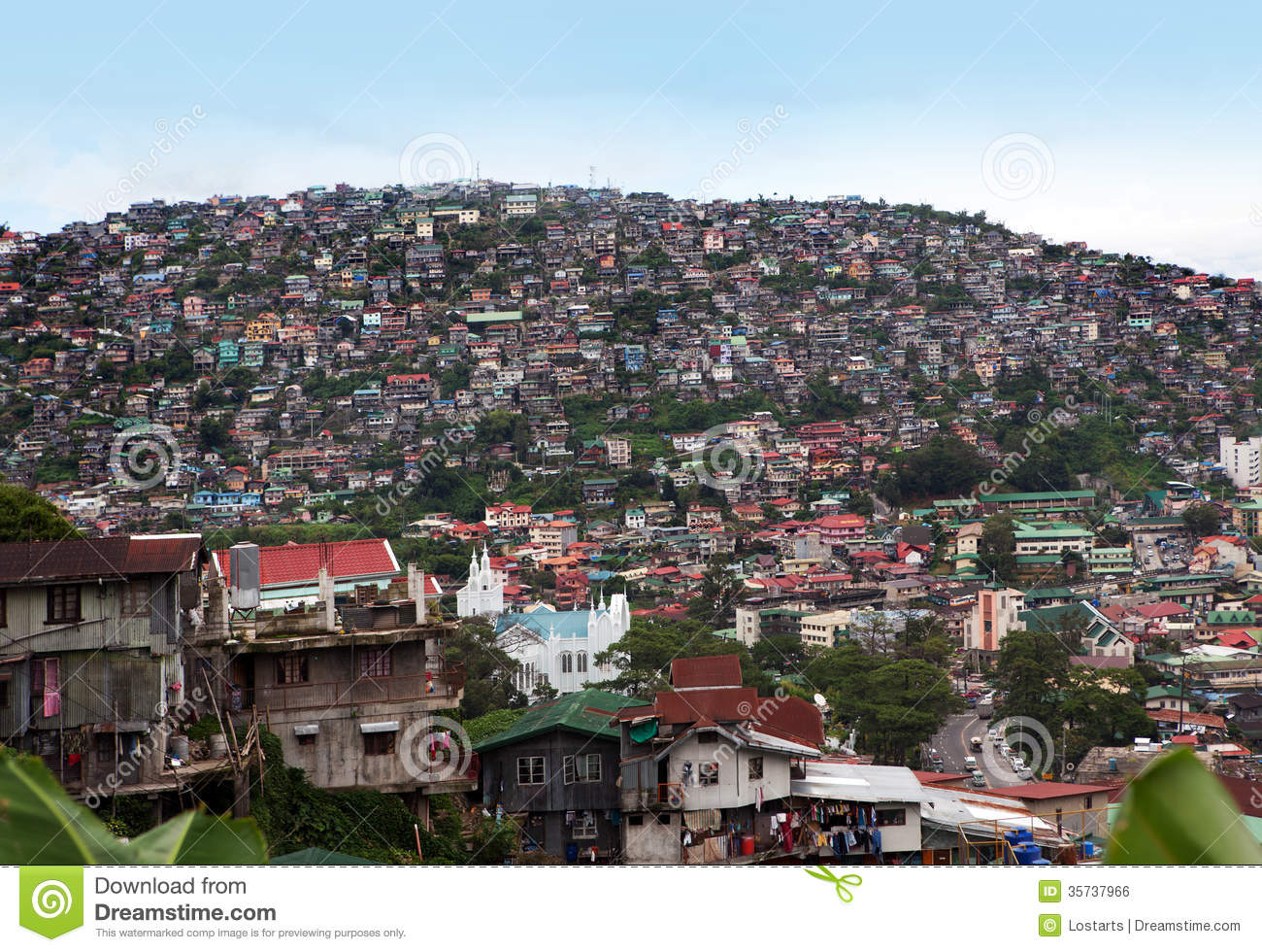 Baguio Philippines  city photos : Royalty Free Stock Image: Baguio Philippines Overpopulation. Image ...