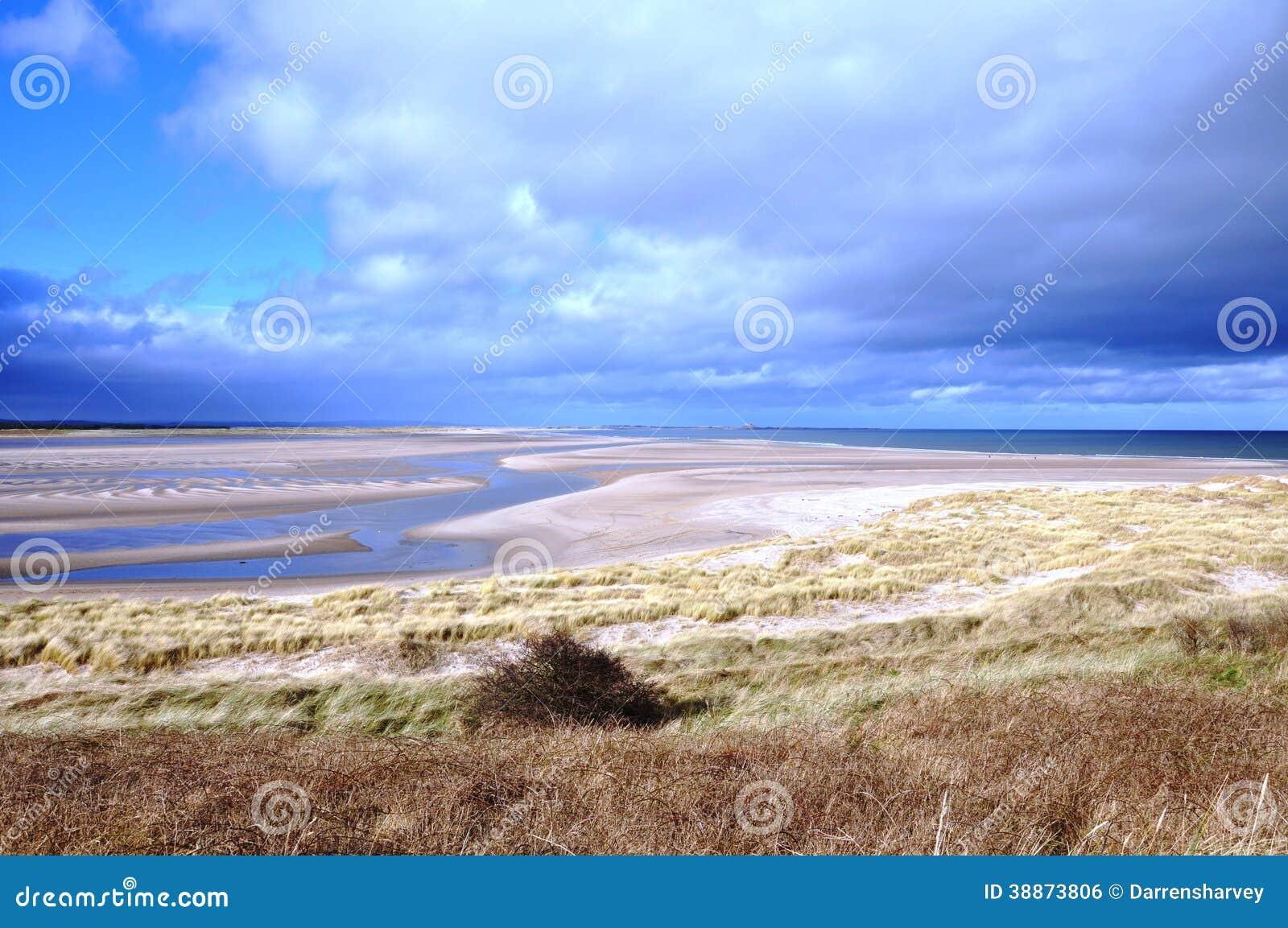 Bahía de Budle en Northumberland