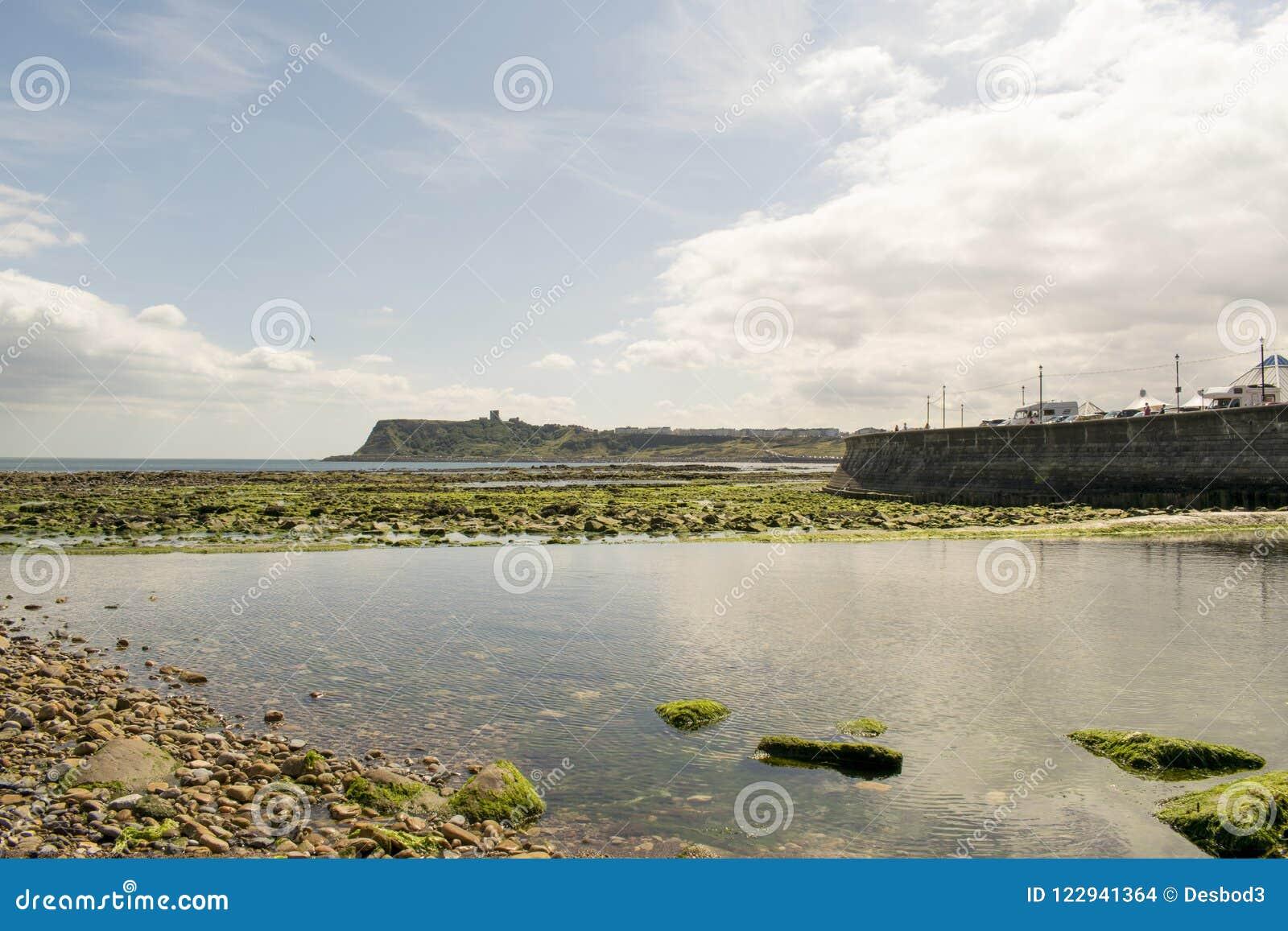 Bahía del norte de Scarborough, North Yorkshire, Inglaterra, Reino Unido