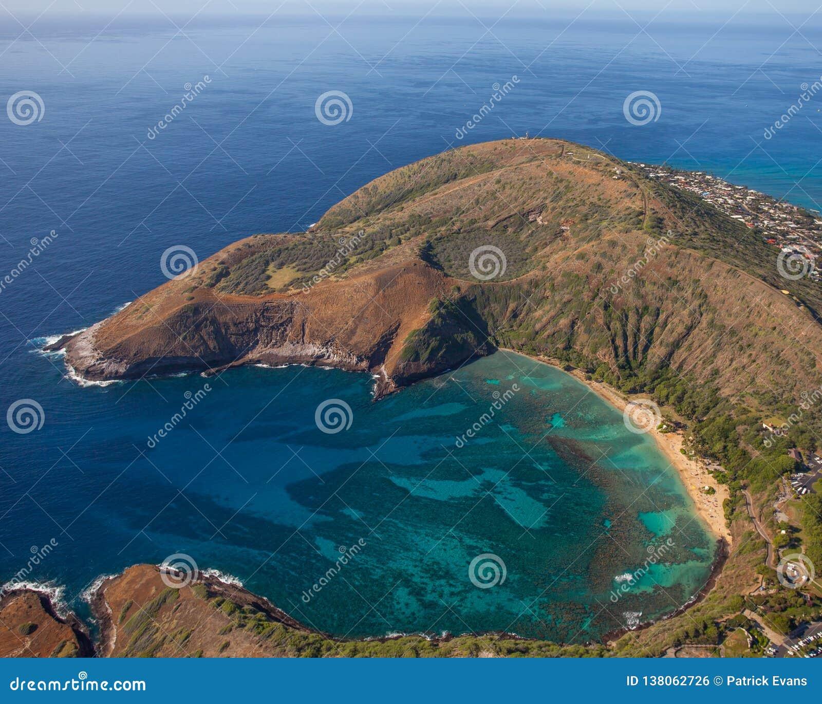 Bahía hermosa Oahu Hawaii de Hanauma