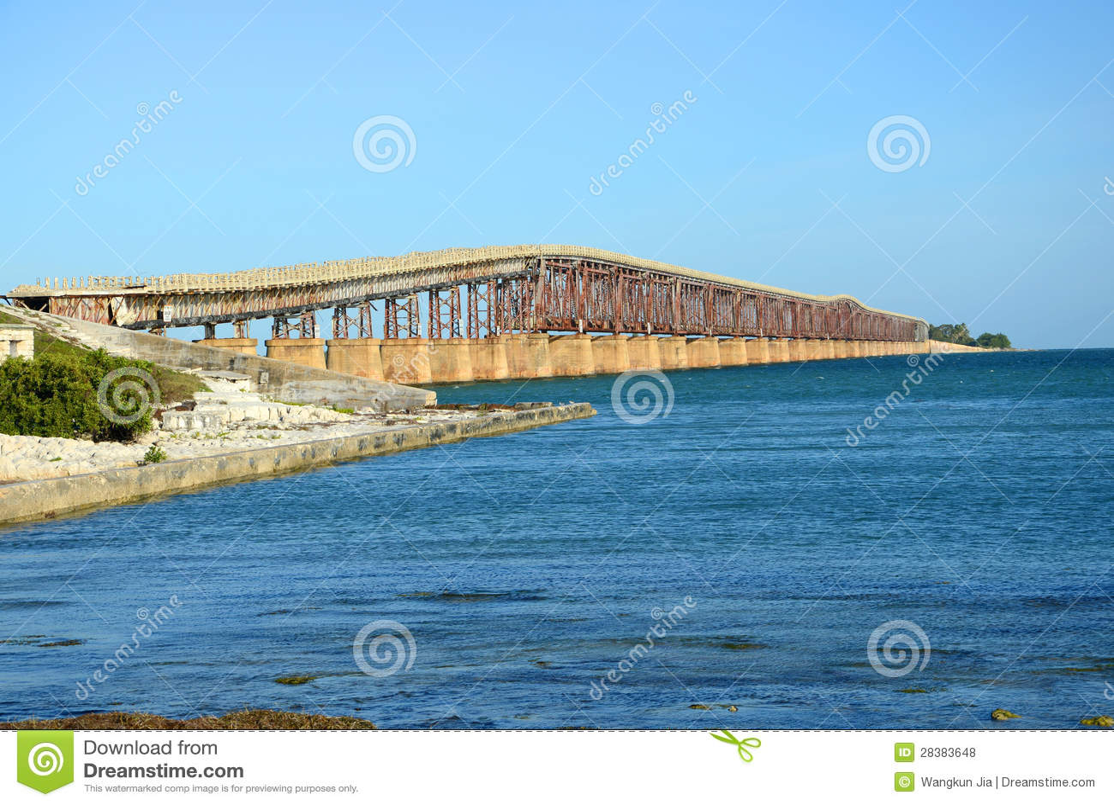 Bahía Honda cerca el puente con barandilla, Key West