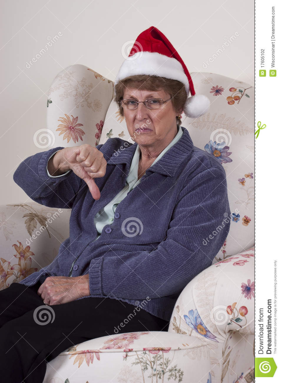 Bah Humbug Mature Senior Woman No Christmas Spirit Stock Photo ...