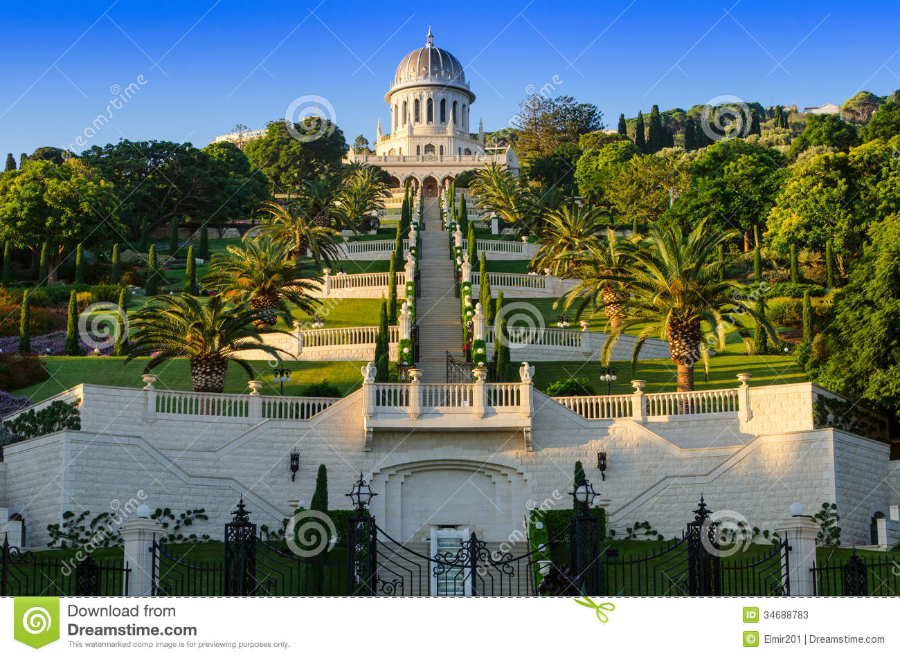 The Bahai Gardens Stock Photos - Image: 34688783