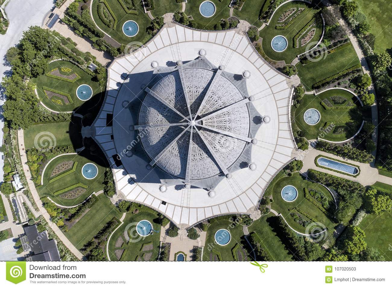 Bahai`i Temple From Above