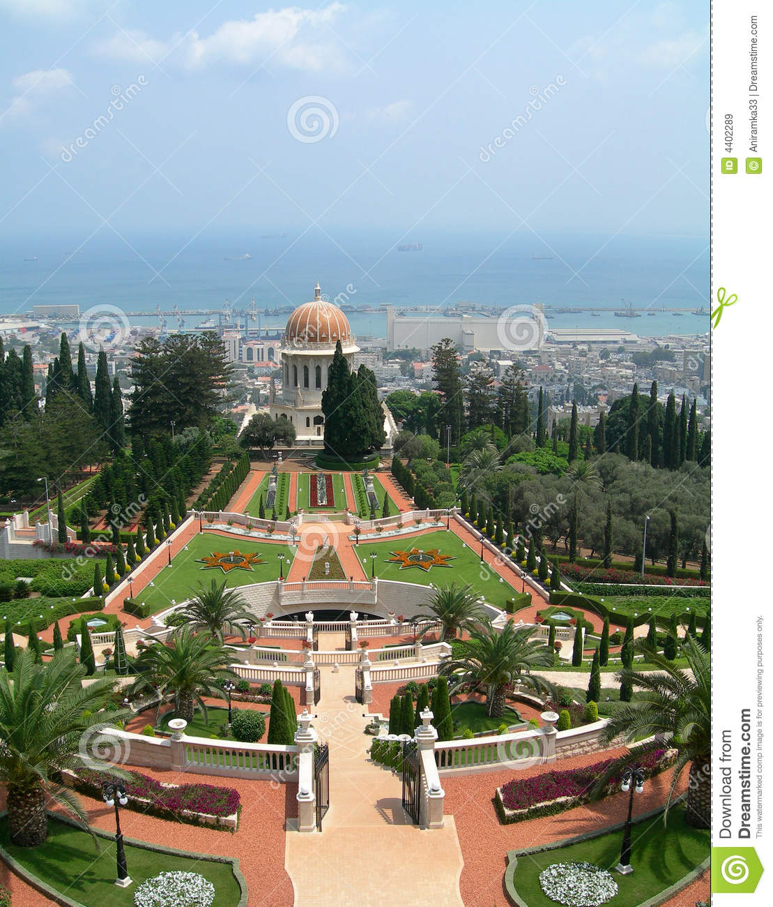 Download Bahai Srine And Garden, Israel Stock Image - Image of shrine, spiritual: 4402289