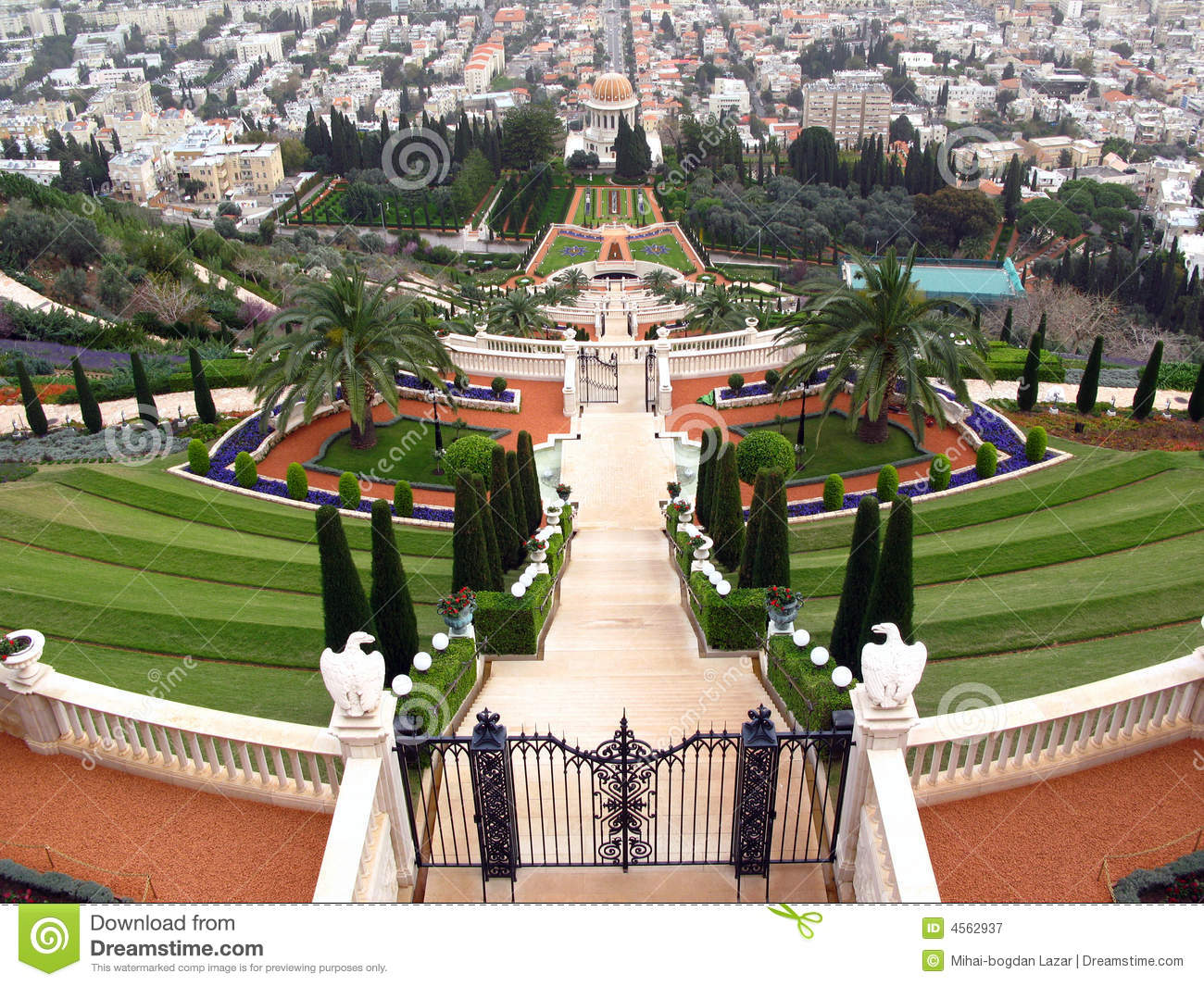 Bahai temple and terraces, Haifa, Israel