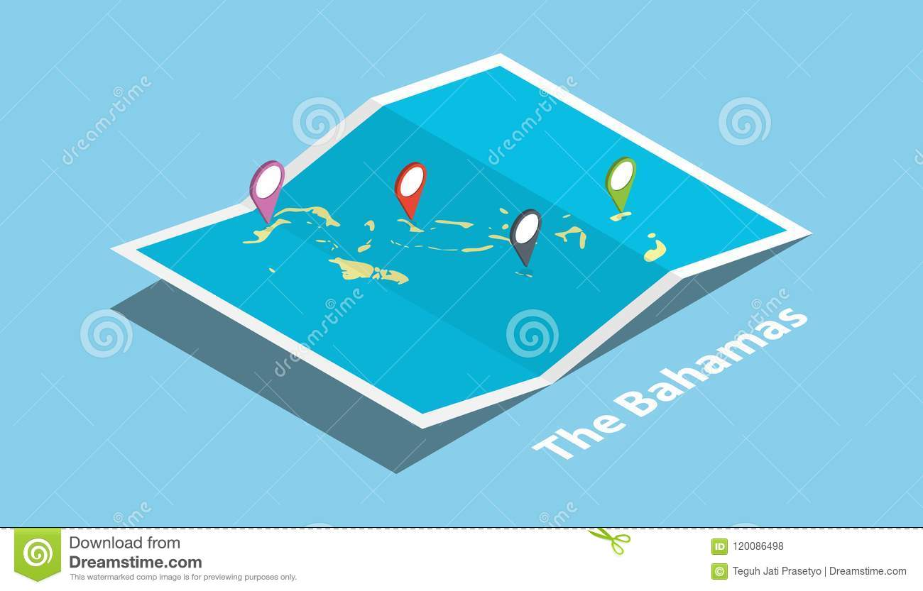 Picture of: The Bahamas Explore Maps Country Nation With Isometric Style And Pin Location Tag On Top Stock Illustration Illustration Of Location Navigation 120086498