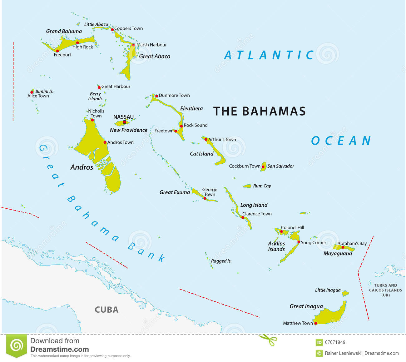Bahamas road map stock illustration Illustration of detailed 67671849