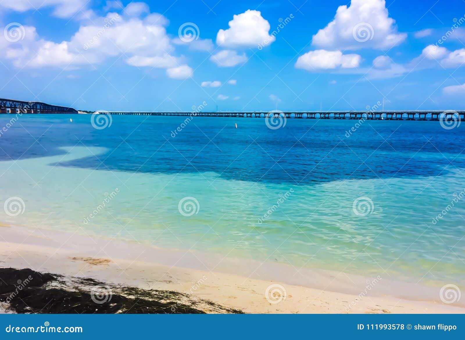 Bahia Honda state park with bridge