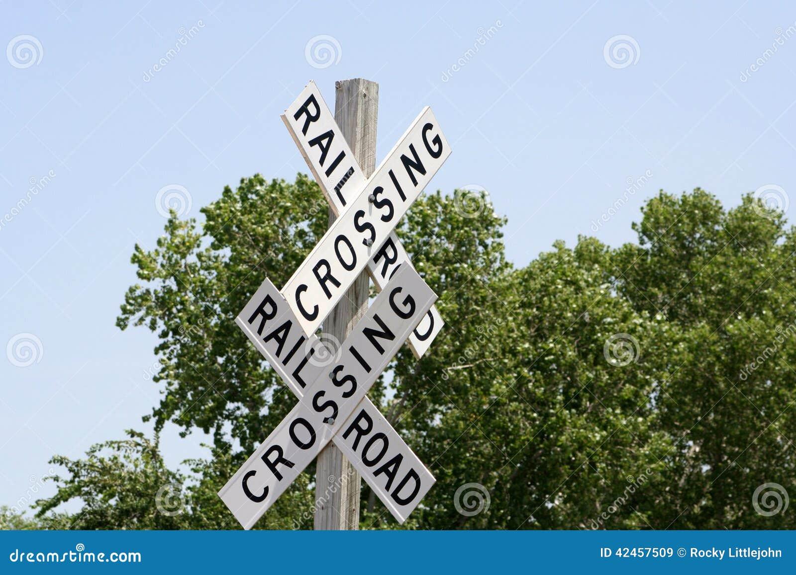Bahnübergang Zeichen-