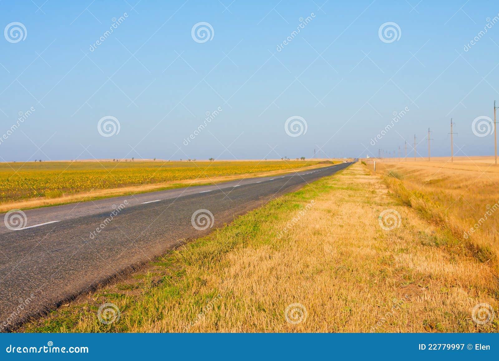 Bahn auf den Gebieten, Straße Samara (Russland) - Uralsk (   Kasachstan)