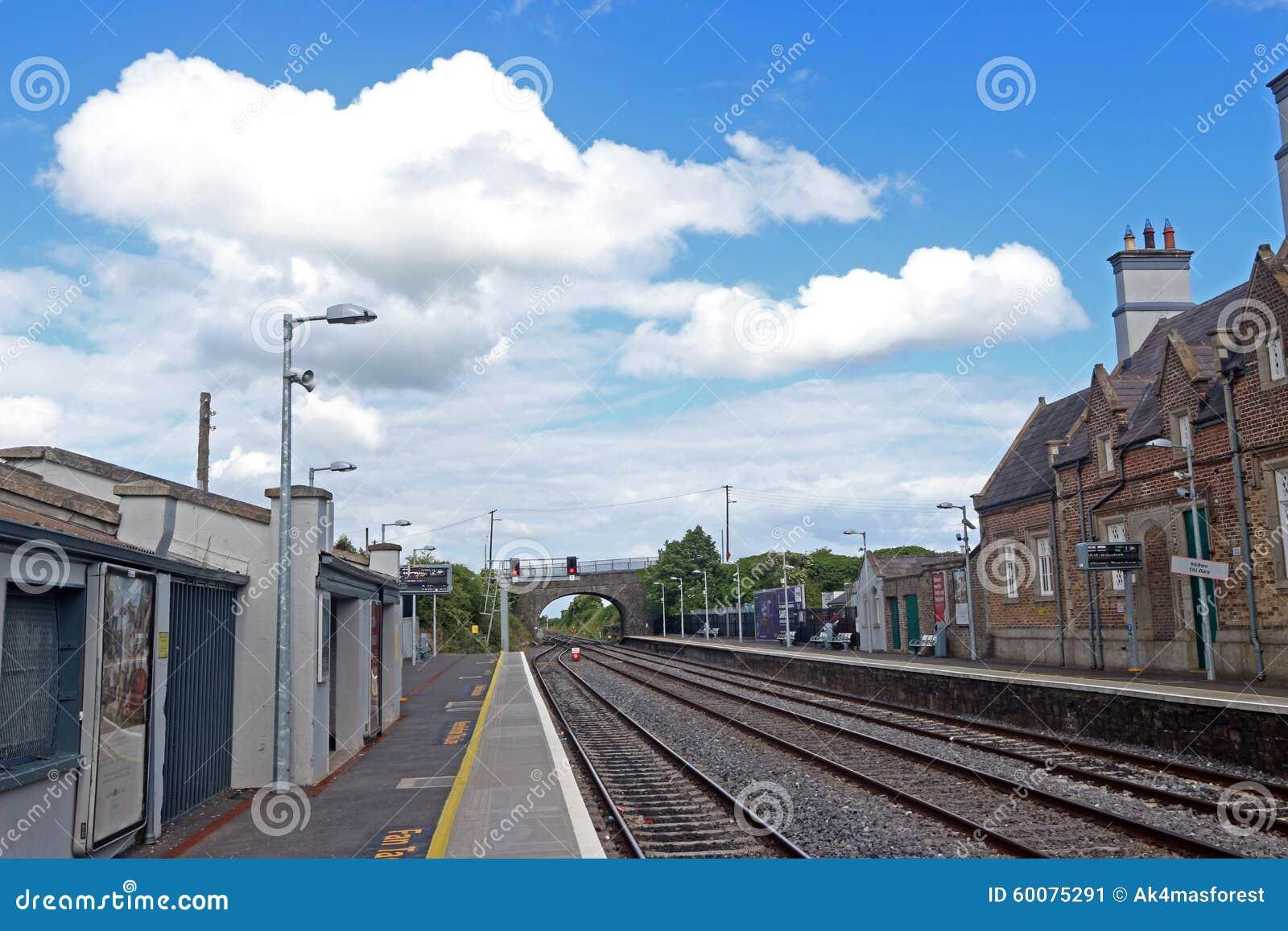 Bahnstationsschienen