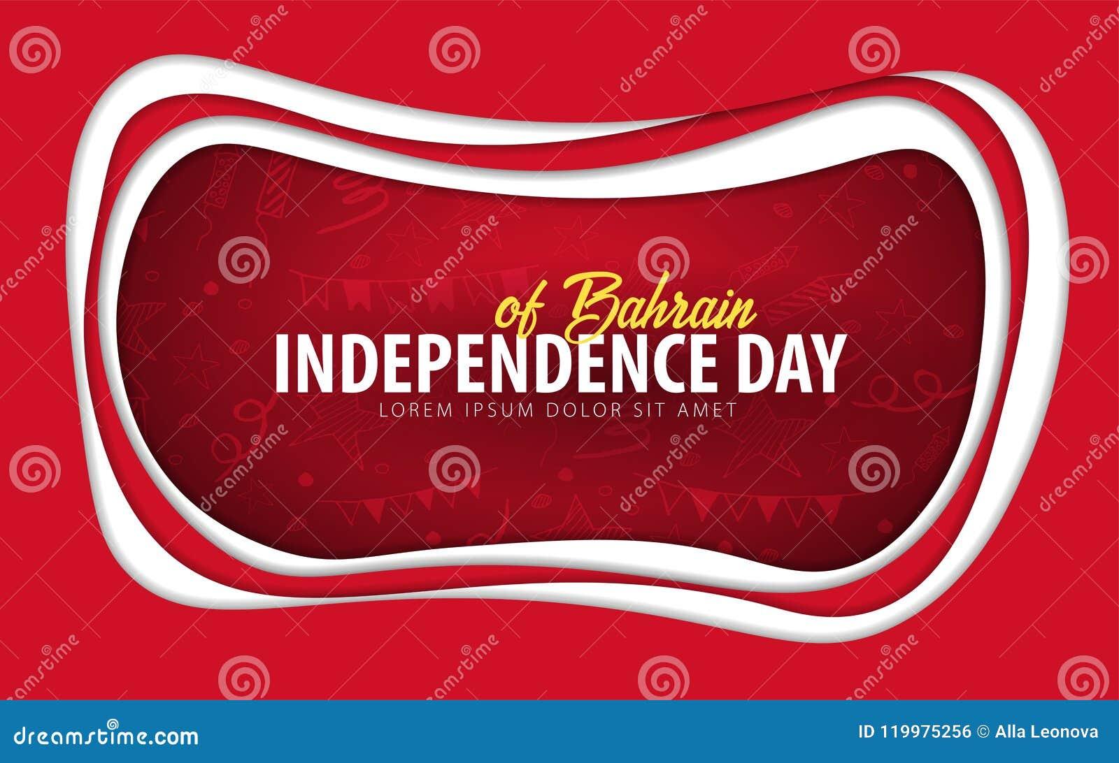 Bahrain Carte de voeux de Jour de la Déclaration d Indépendance style de coupe de papier