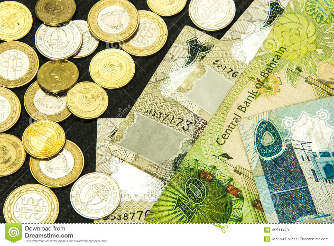 Bahrain Currency Close Up