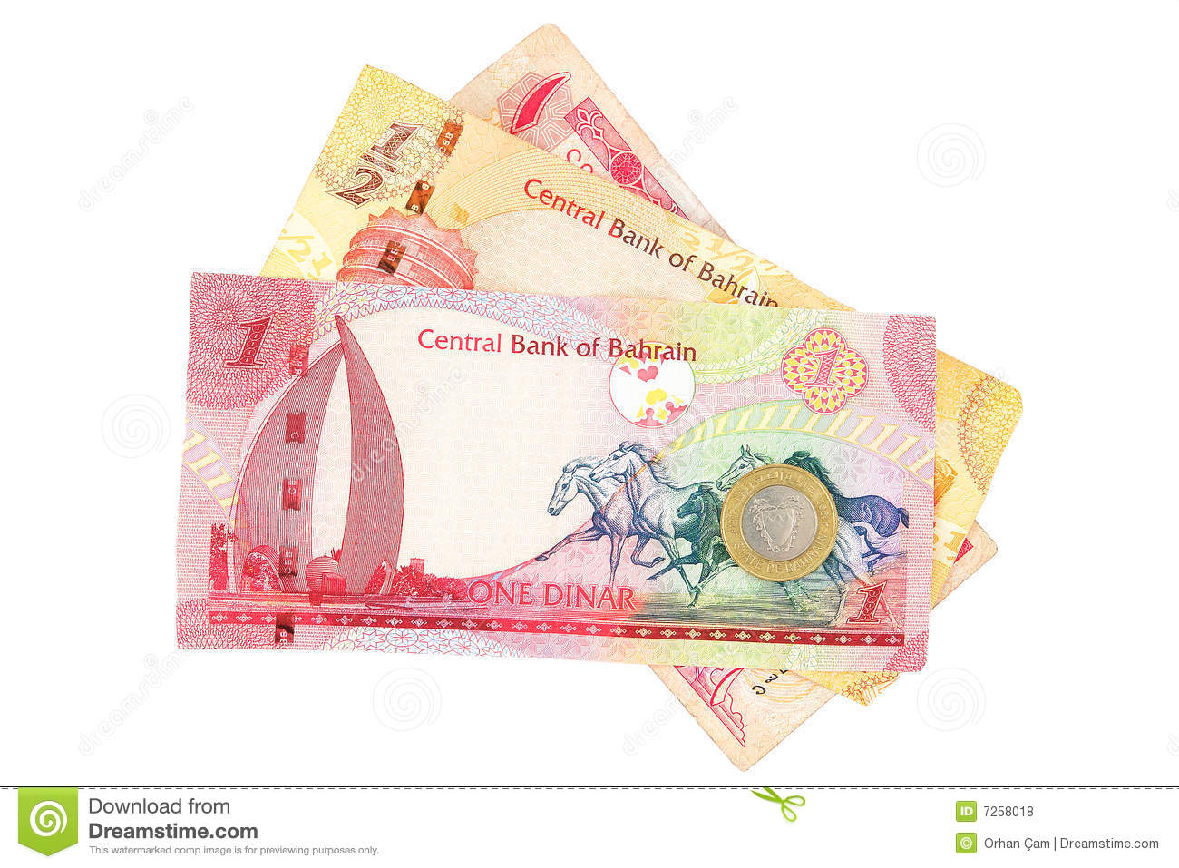 Bahrain Currency Isolated Stock Photo Image Of Shopping Macro
