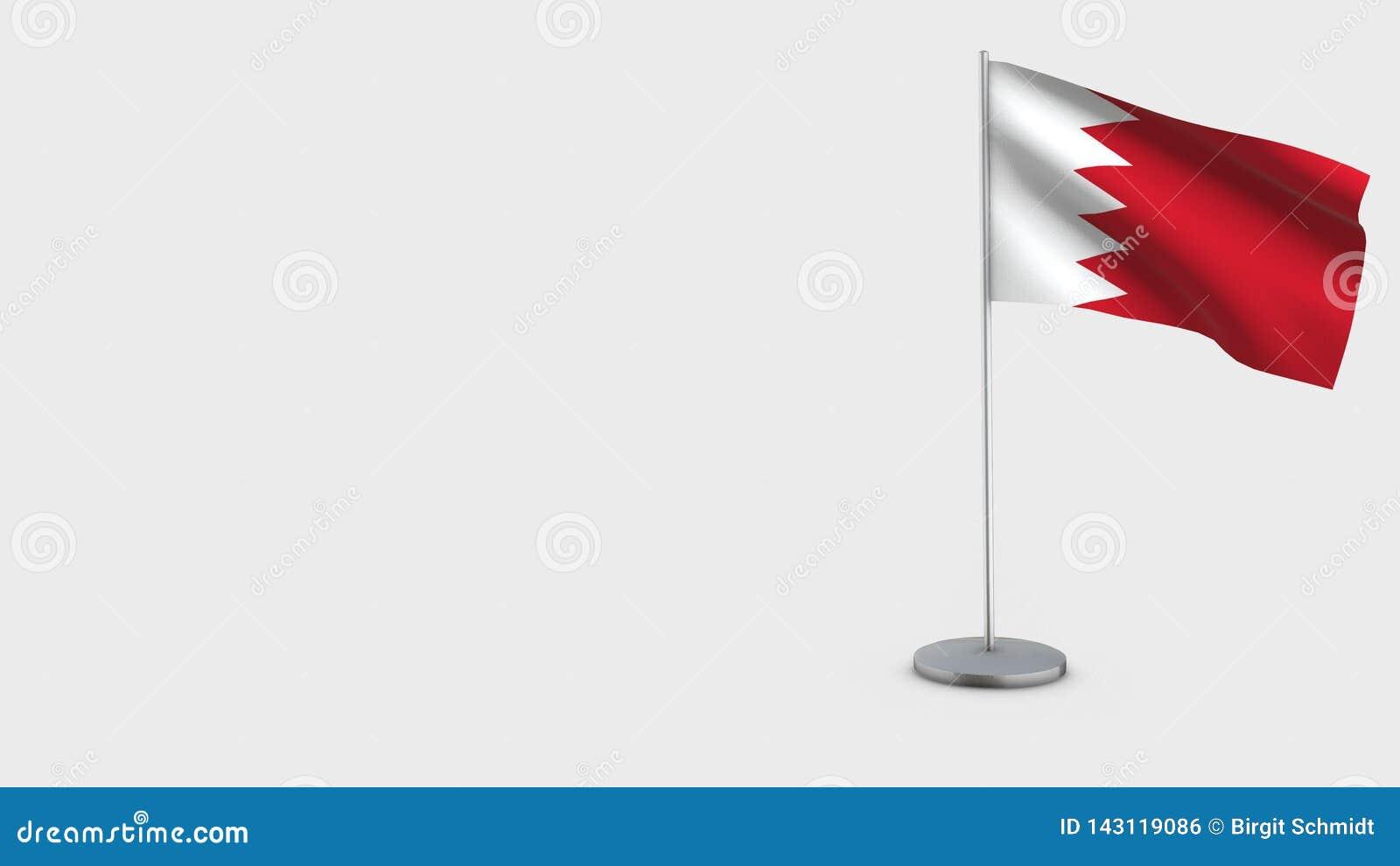 Bahrain 3D vinkande flaggaillustration