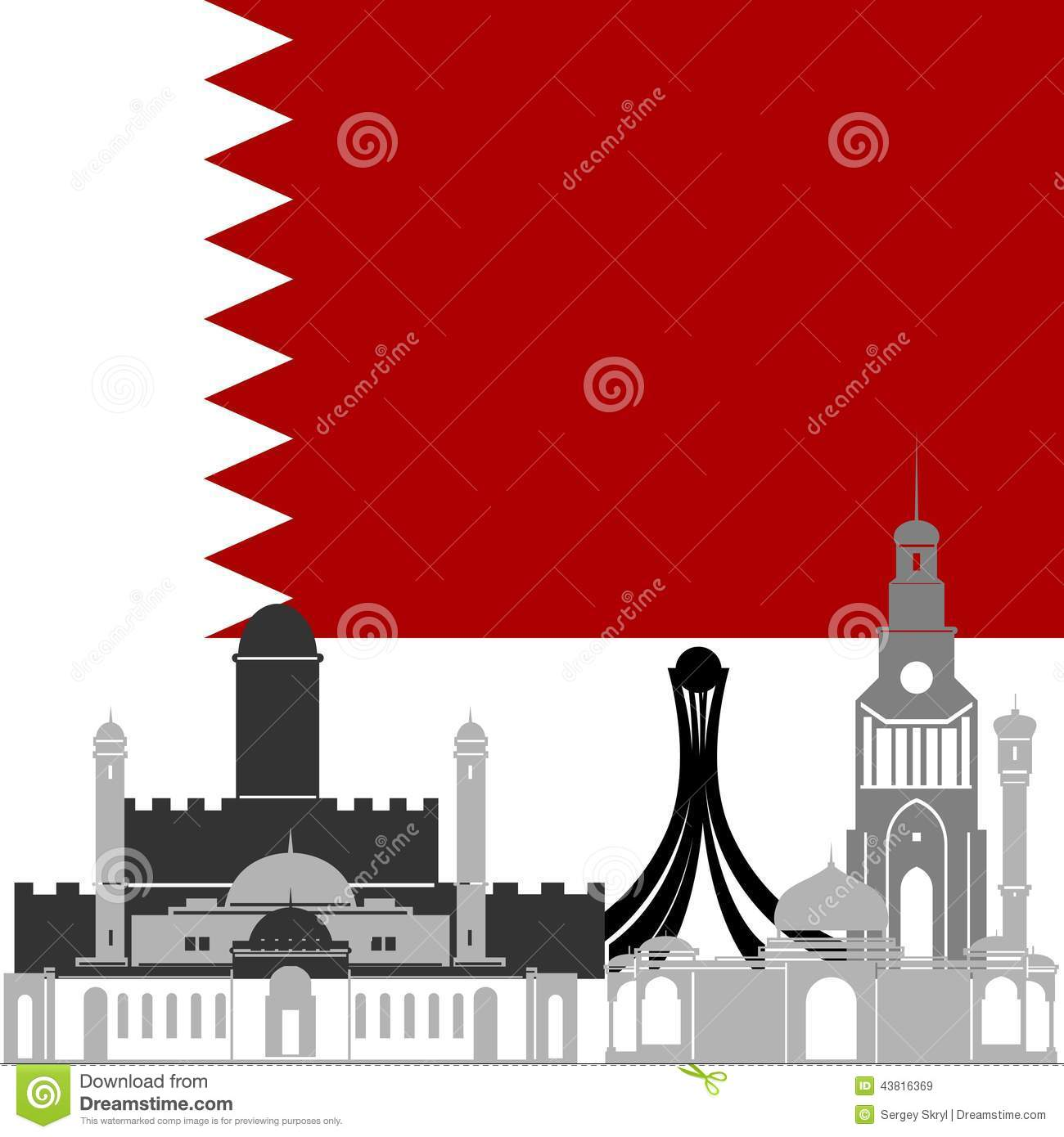 Bahrain stock vector image 43816369 for United international decor bahrain