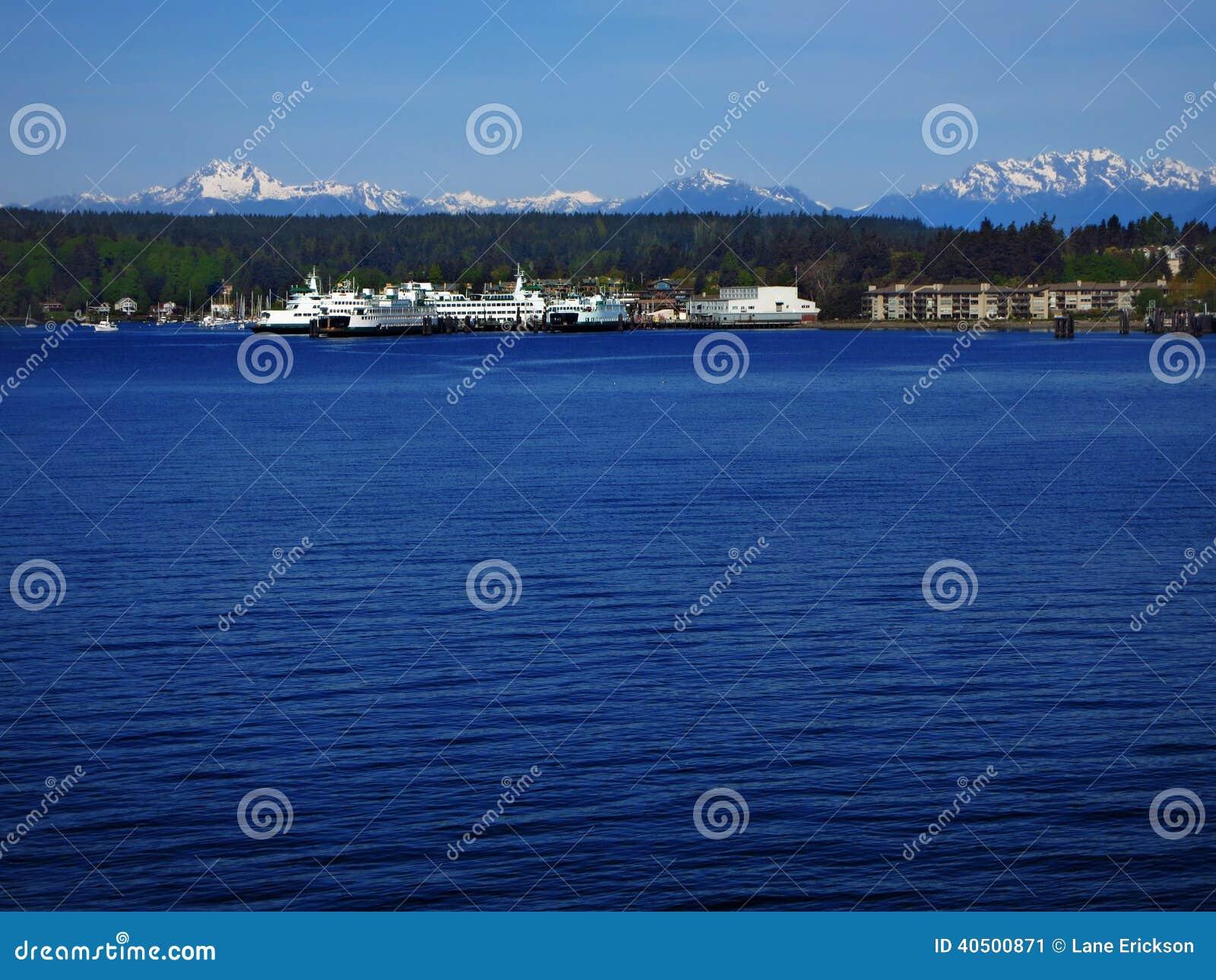 baia dell 39 isola di bainbridge immagine stock immagine di
