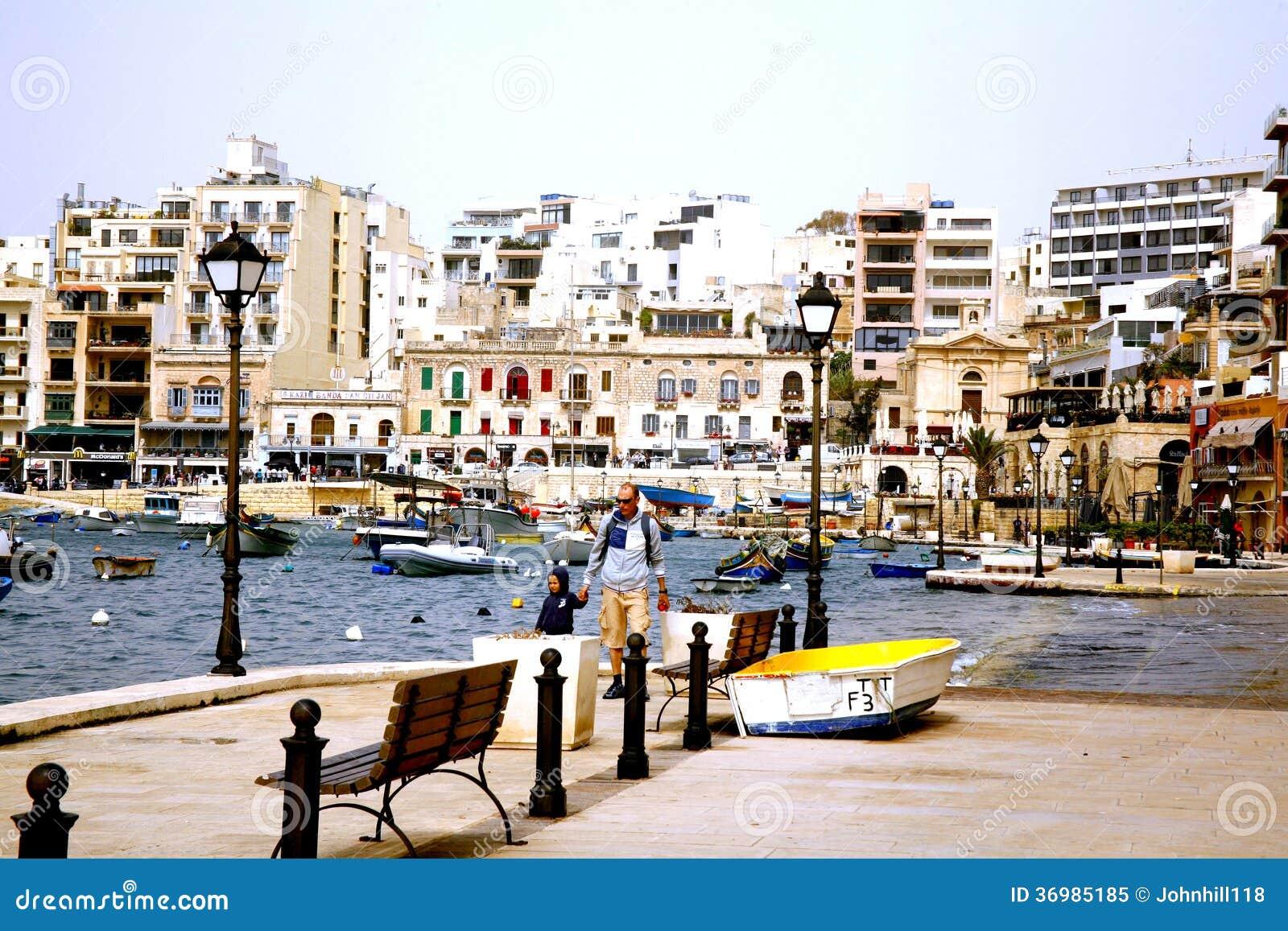 Baia della st Julian, Malta.