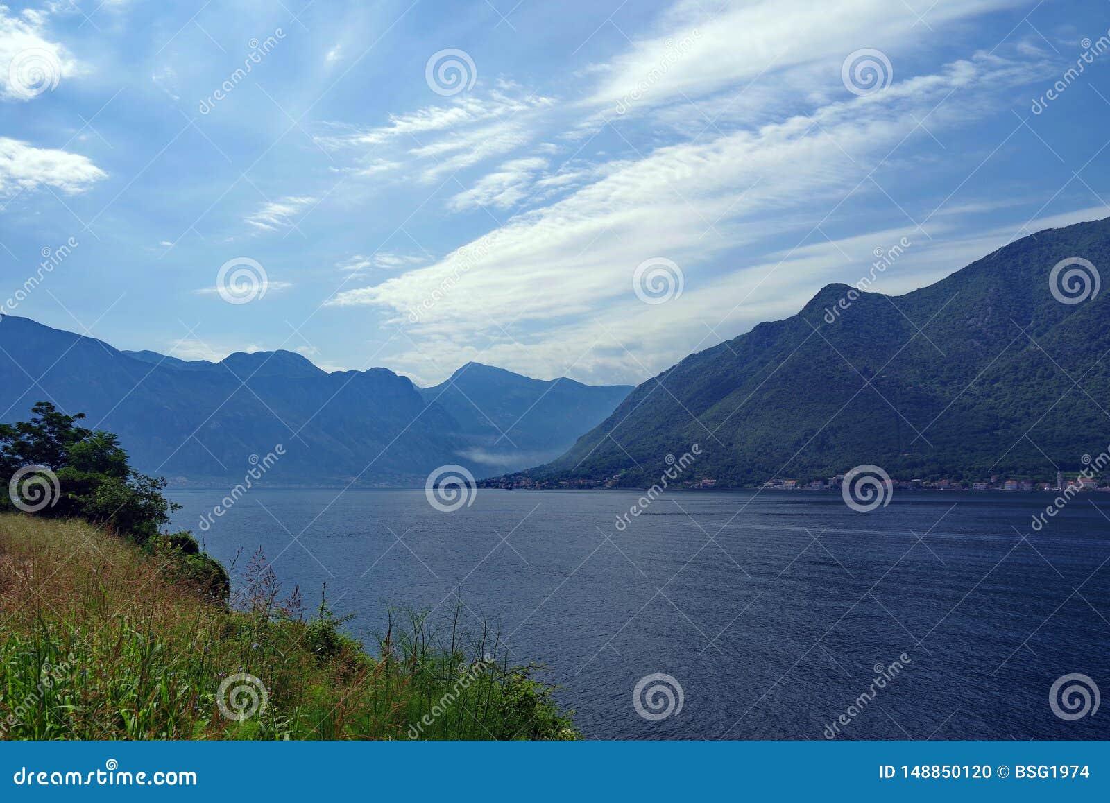 Baia di Boko Cattaro nel Montenegro