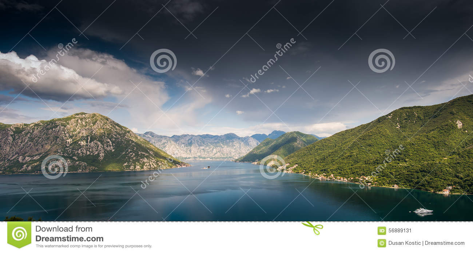 Baia di Kotor nel Montenegro