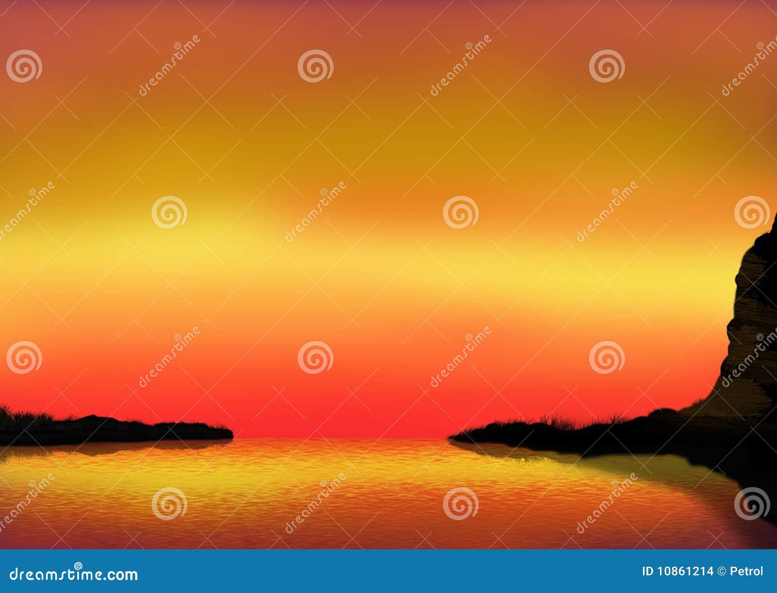 Baia di tramonto