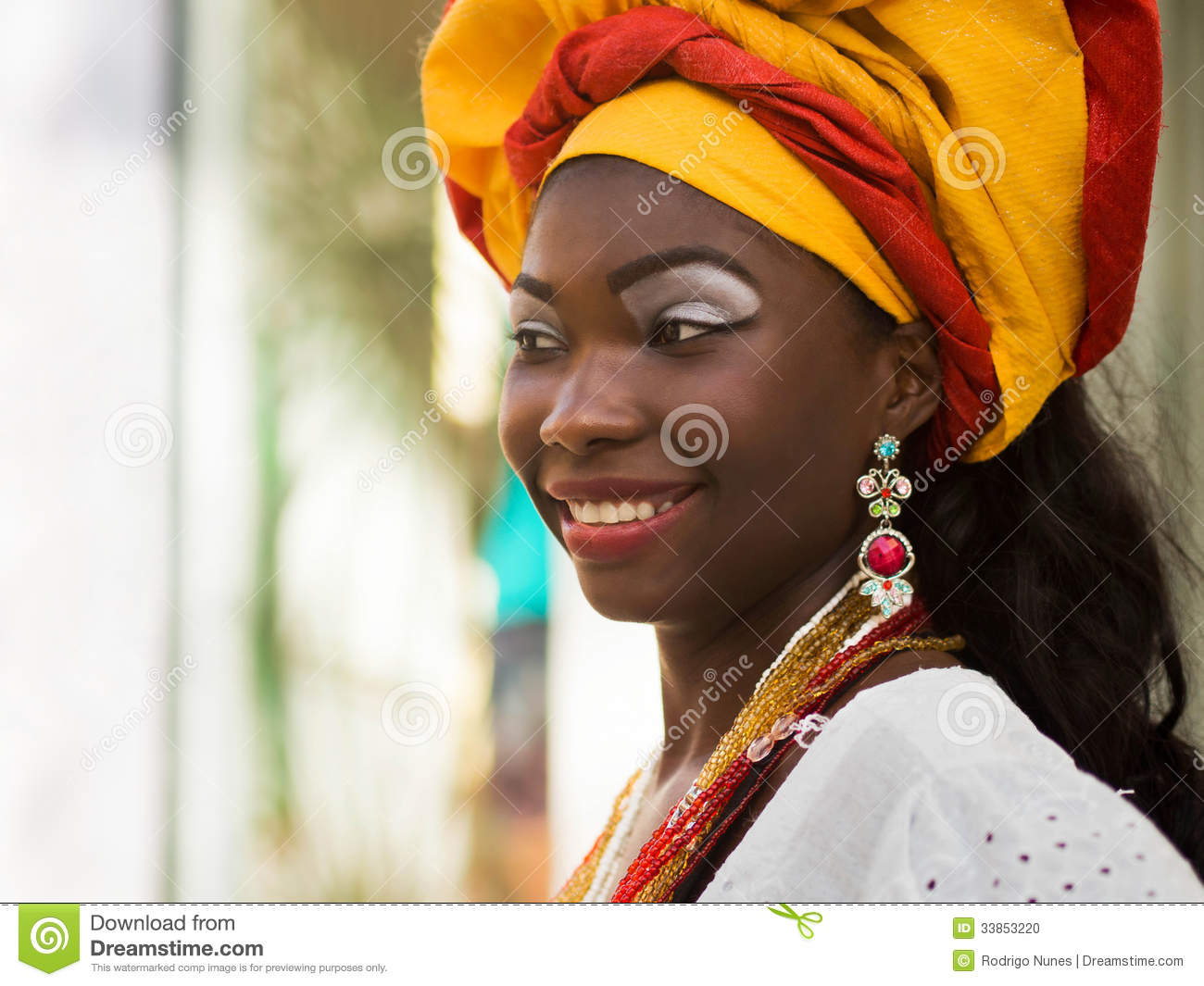 Baiana, Brazilian Woman In Traditional Attire Editorial ...