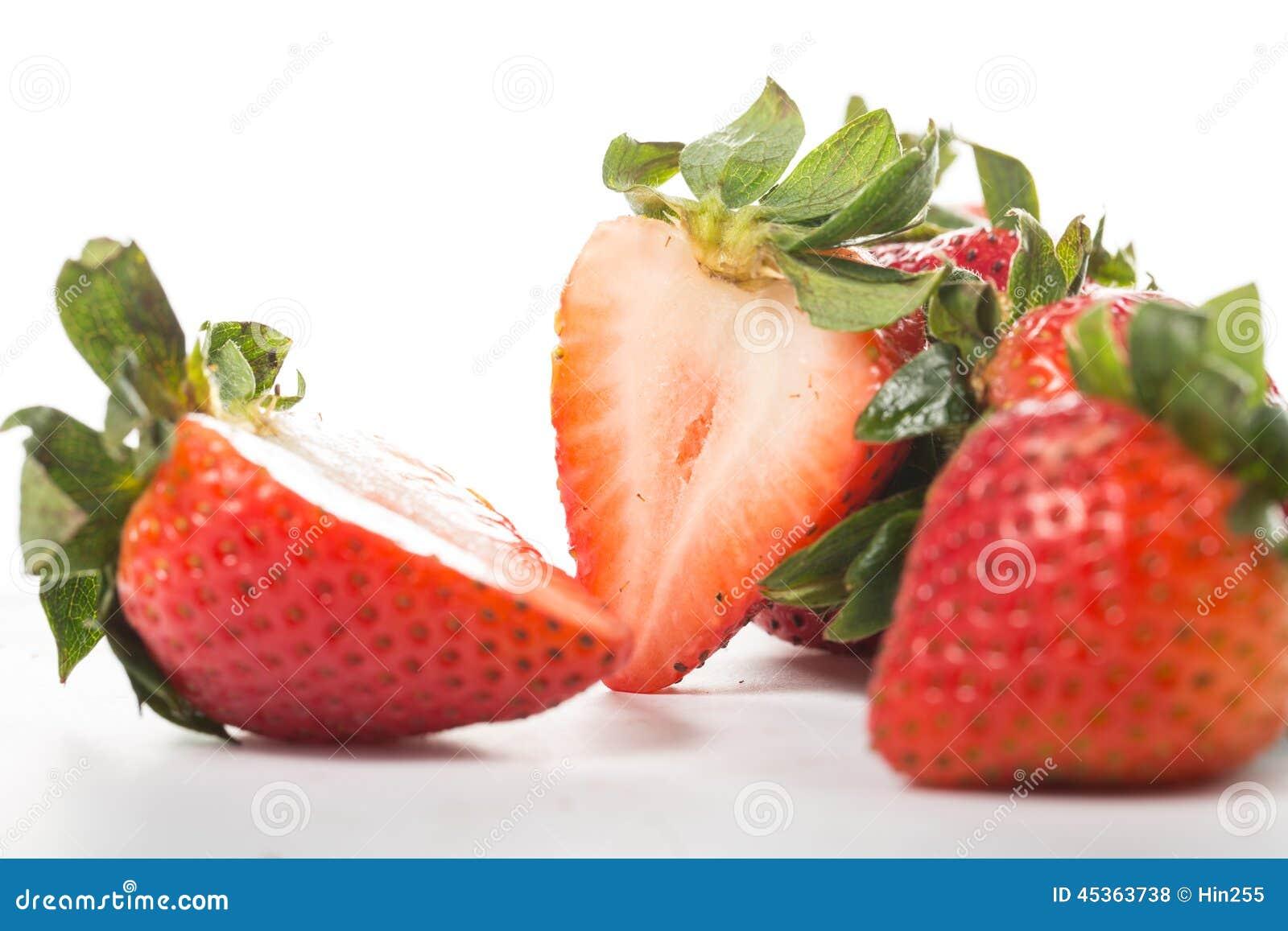 Baie de fraises d isolement