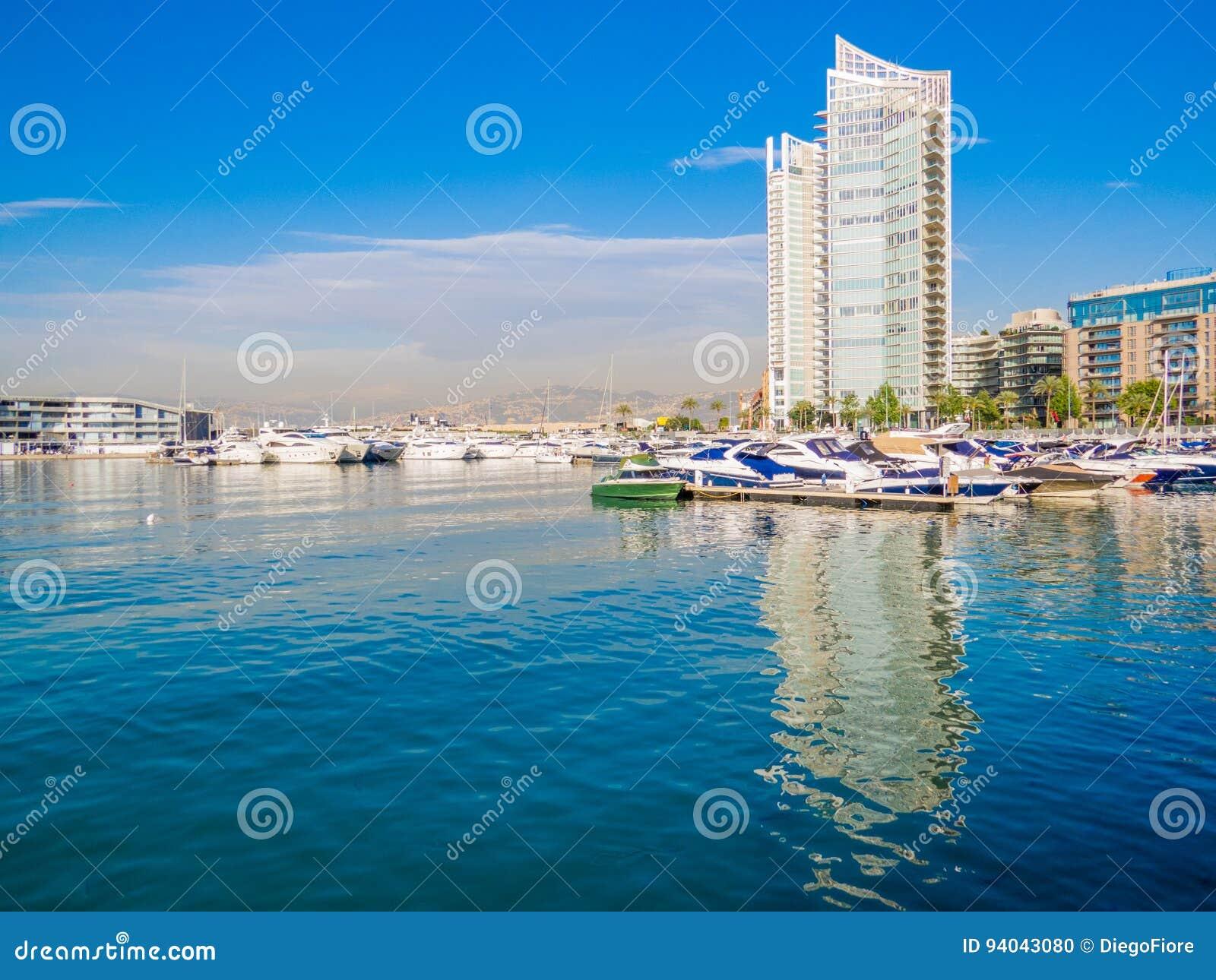 Baie de Zaitunay à Beyrouth, Liban