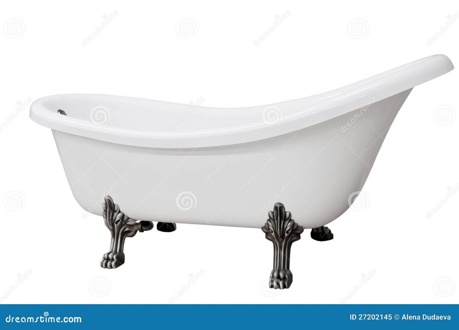 Baignoire blanche classique avec des pattes photo libre de for Baignoire classique prix