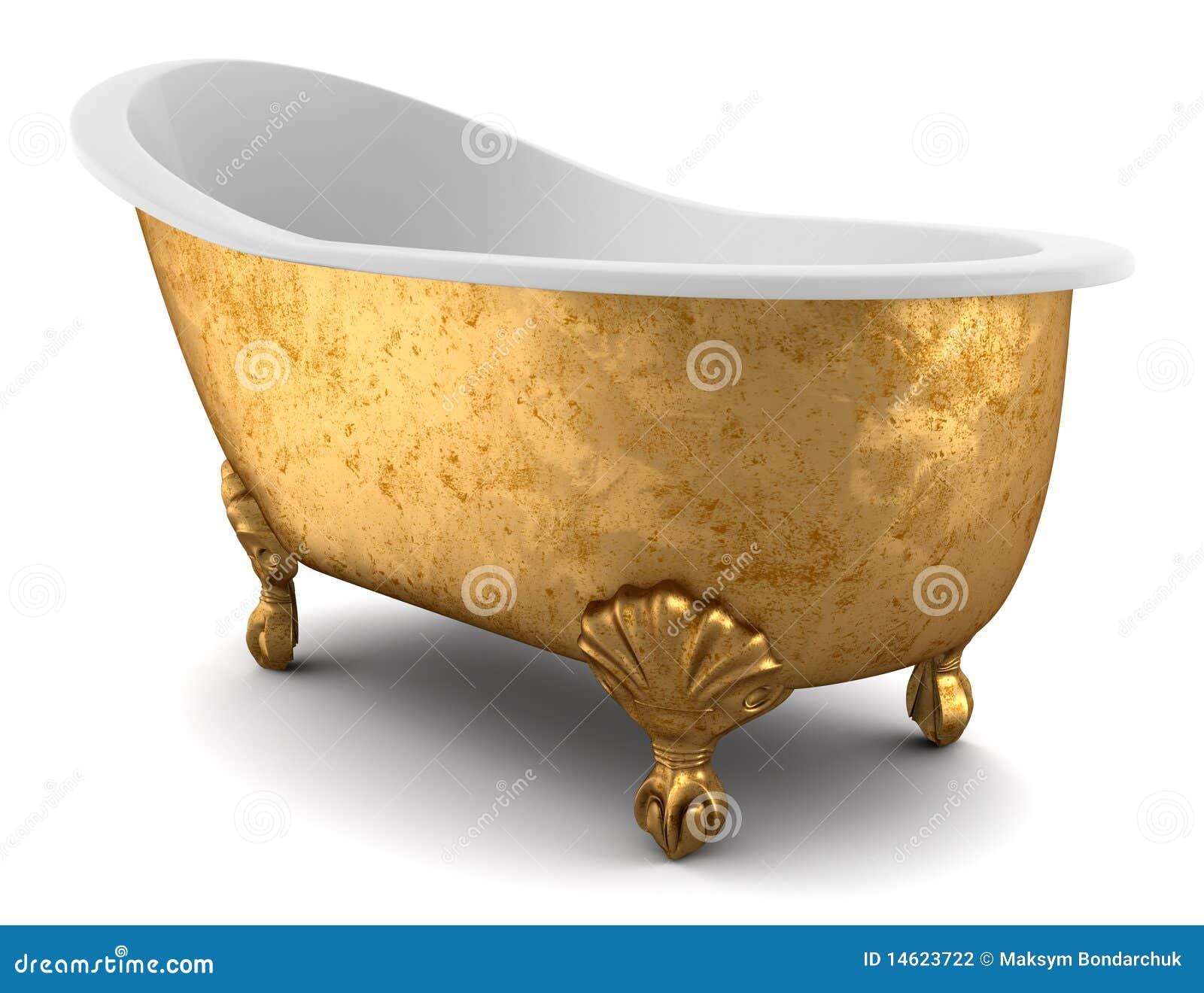 baignoire classique d 39 isolement sur le fond blanc photographie stock image 14623722. Black Bedroom Furniture Sets. Home Design Ideas